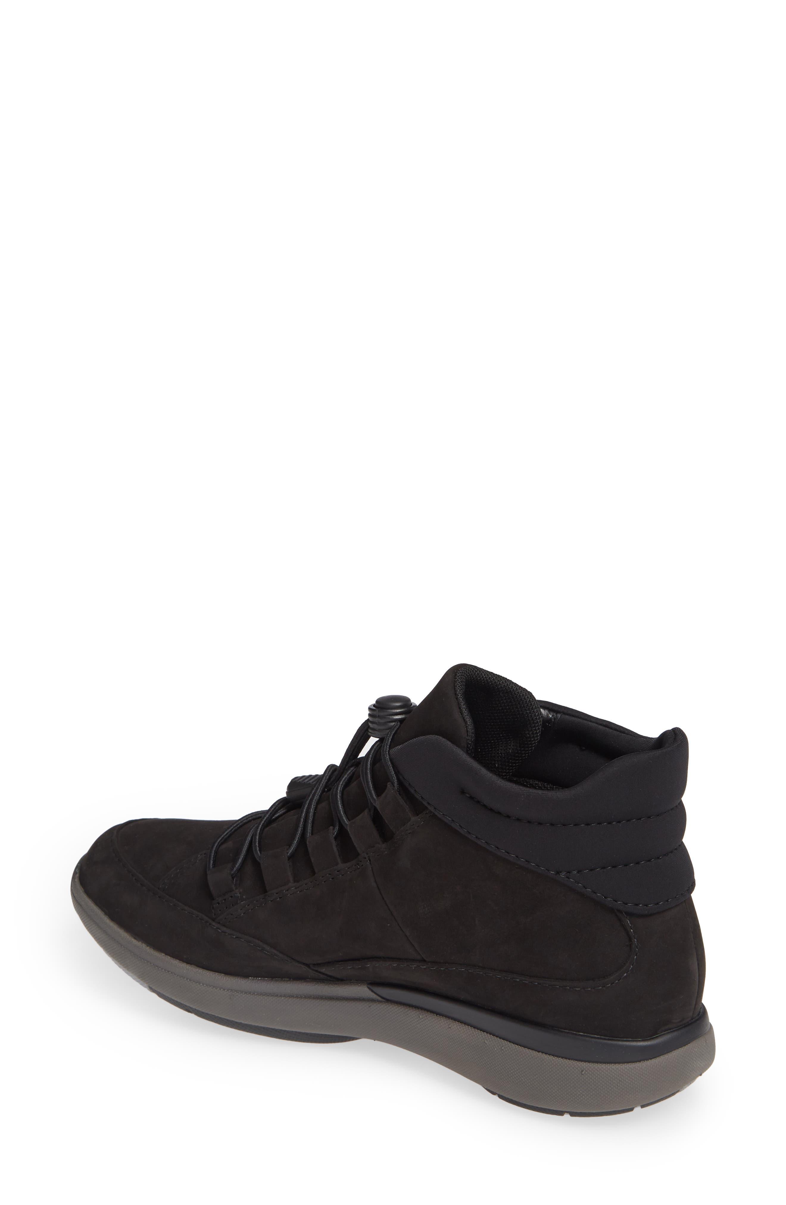 Un Cruise Lace-Up Sneaker,                             Alternate thumbnail 2, color,                             BLACK NUBUCK
