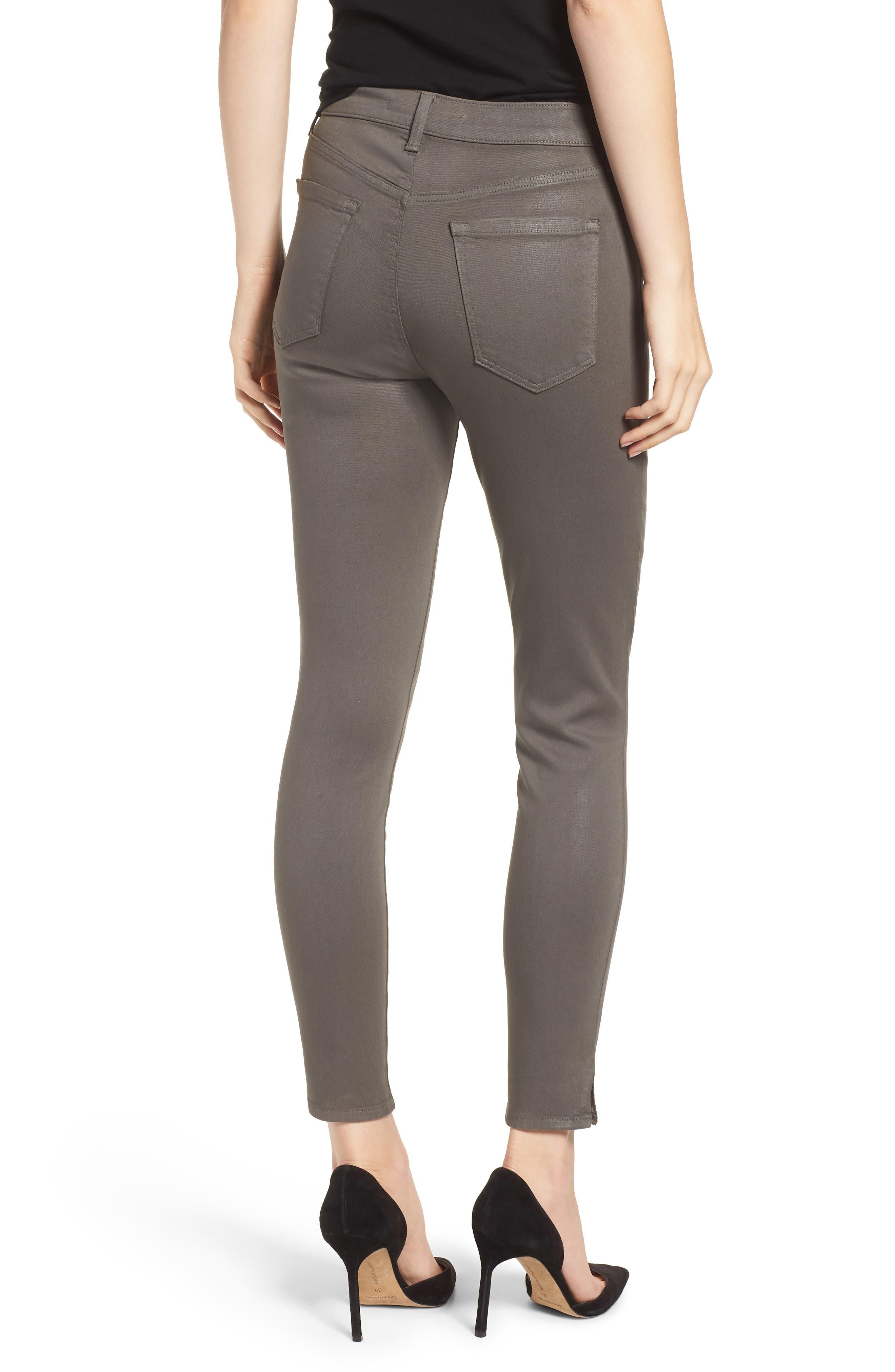 Alana High Waist Crop Skinny Jeans,                             Alternate thumbnail 2, color,                             COATED JUNIPER