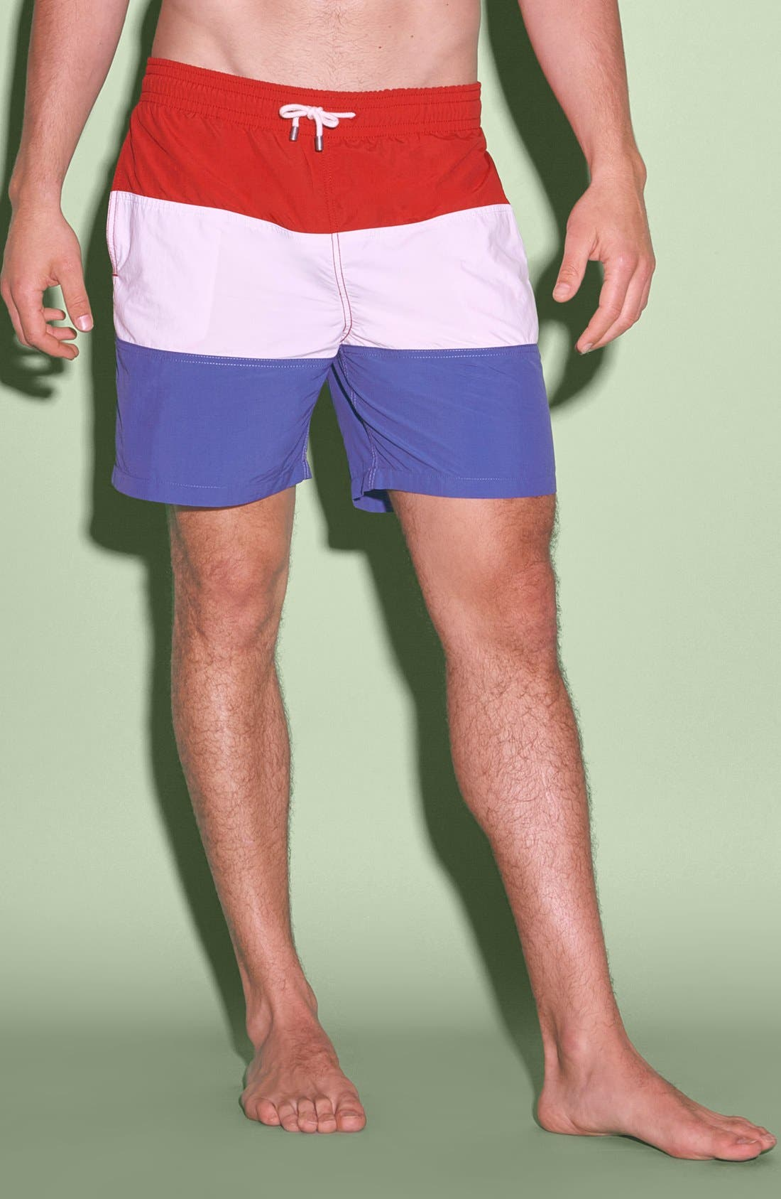 'Classic' Slim Fit Trunks, Main, color, 100