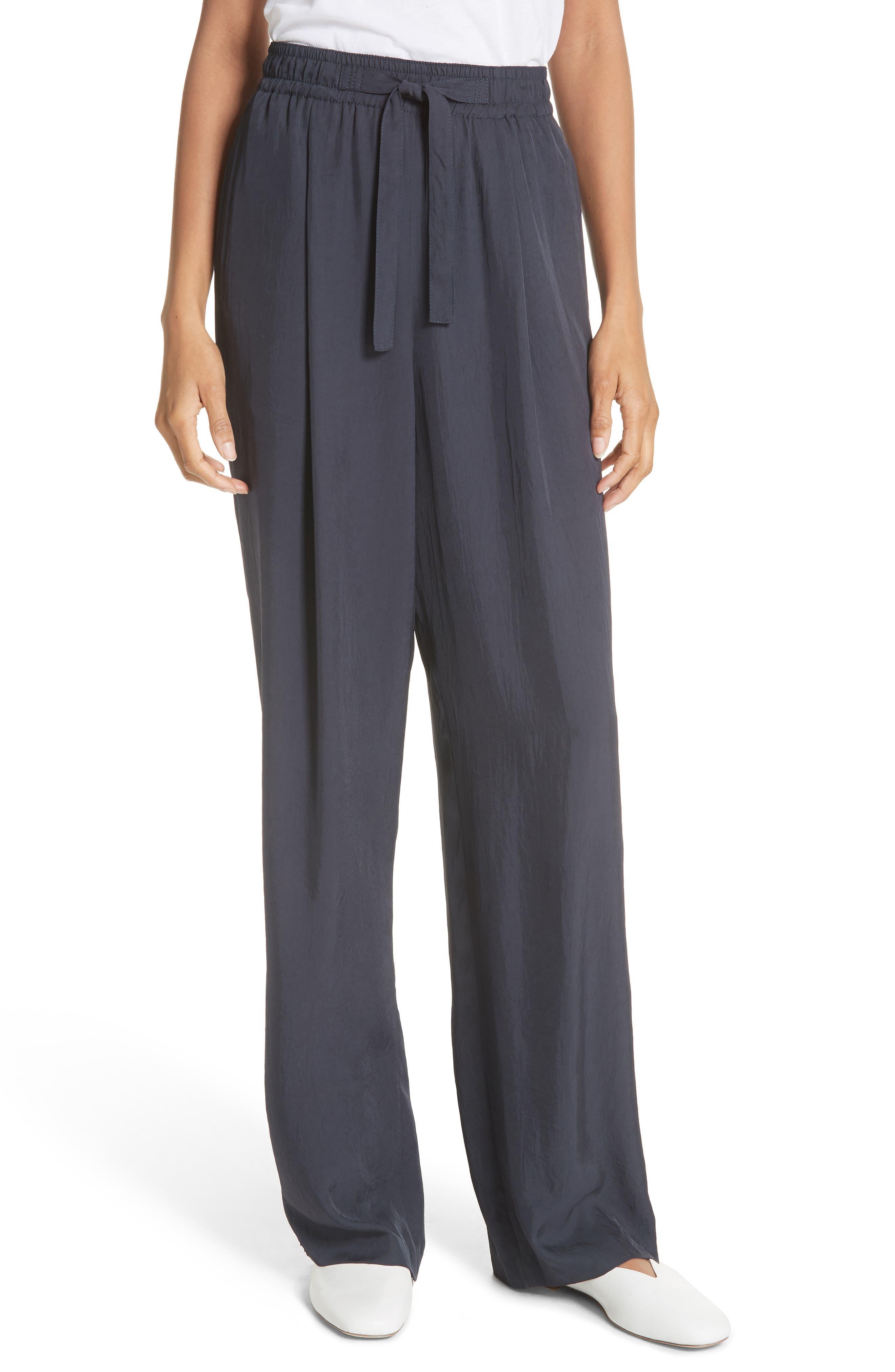 Tie Front Wide Leg Pants,                         Main,                         color, COASTAL