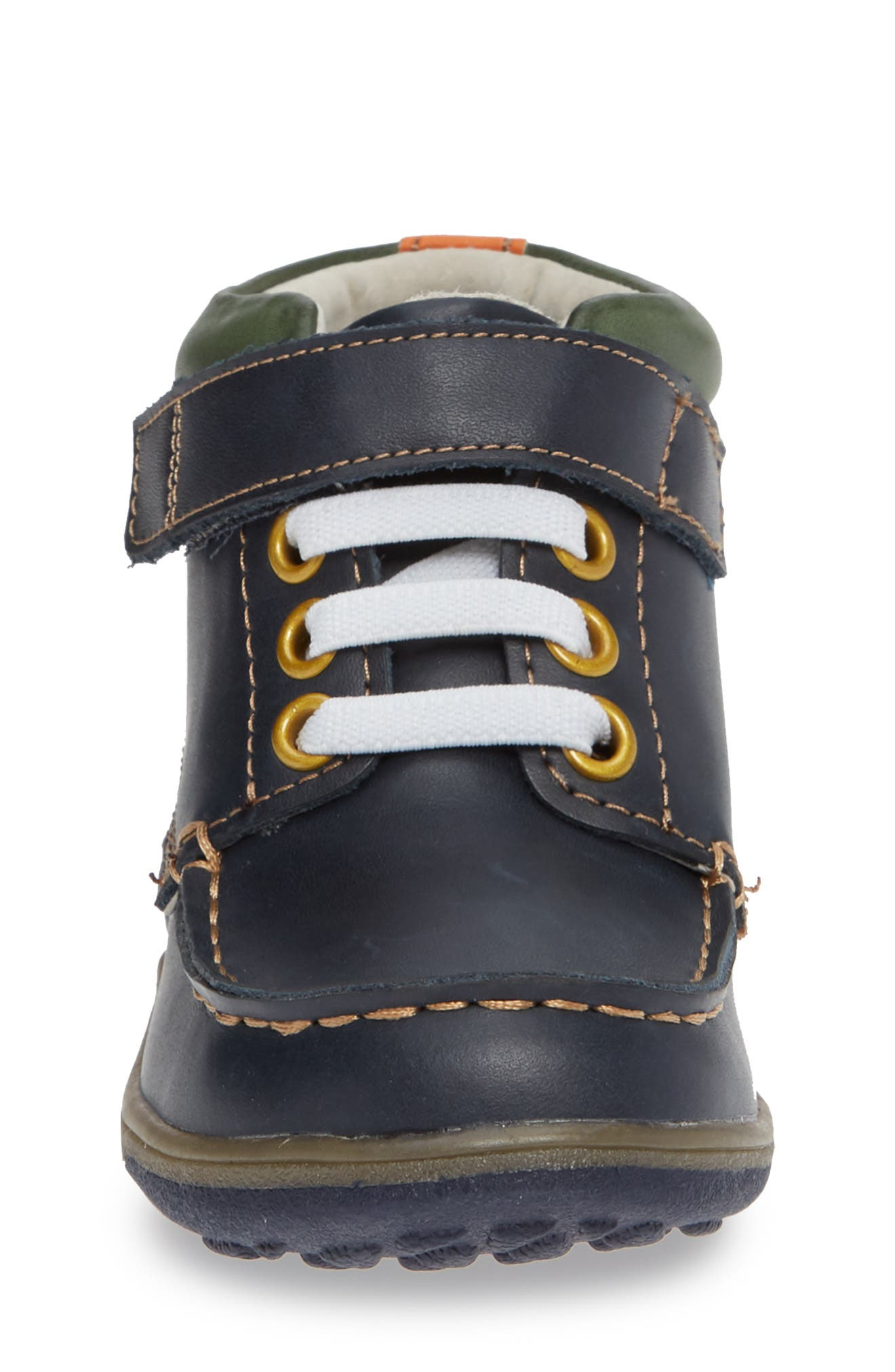 Owen High Top Sneaker Bootie,                             Alternate thumbnail 4, color,                             NAVY