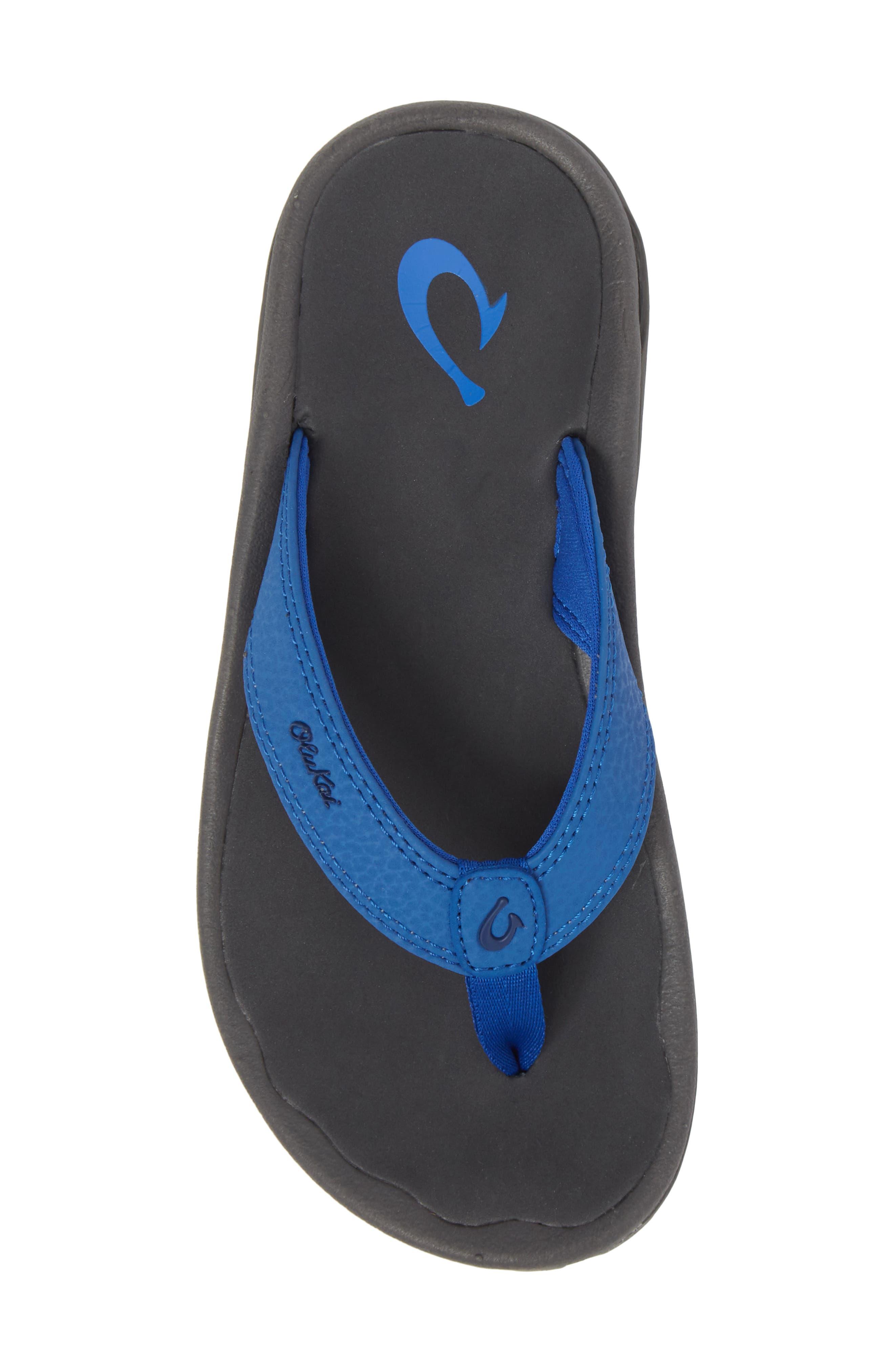 'Ohana' Sandal,                             Alternate thumbnail 5, color,                             AQUA BLUE/ DARK SHADOW