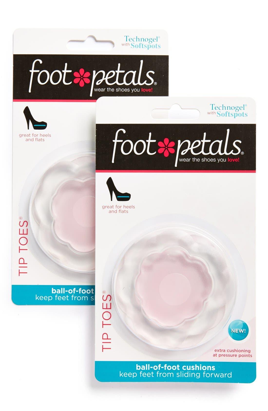 'Tip Toes' Foot Petals,                             Main thumbnail 1, color,                             PINK GEL