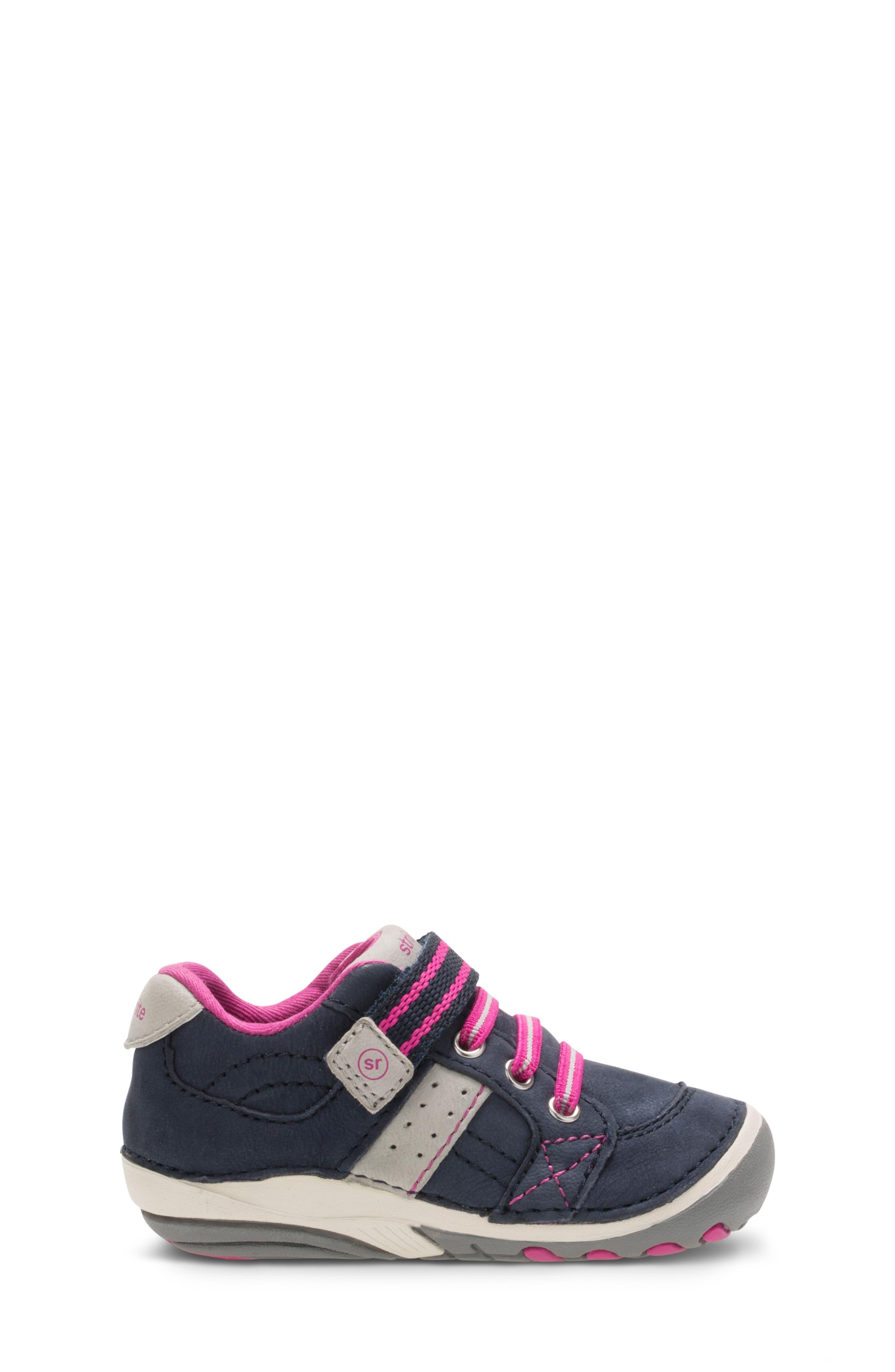 'Artie' Sneaker,                             Alternate thumbnail 3, color,                             NAVY/ PINK