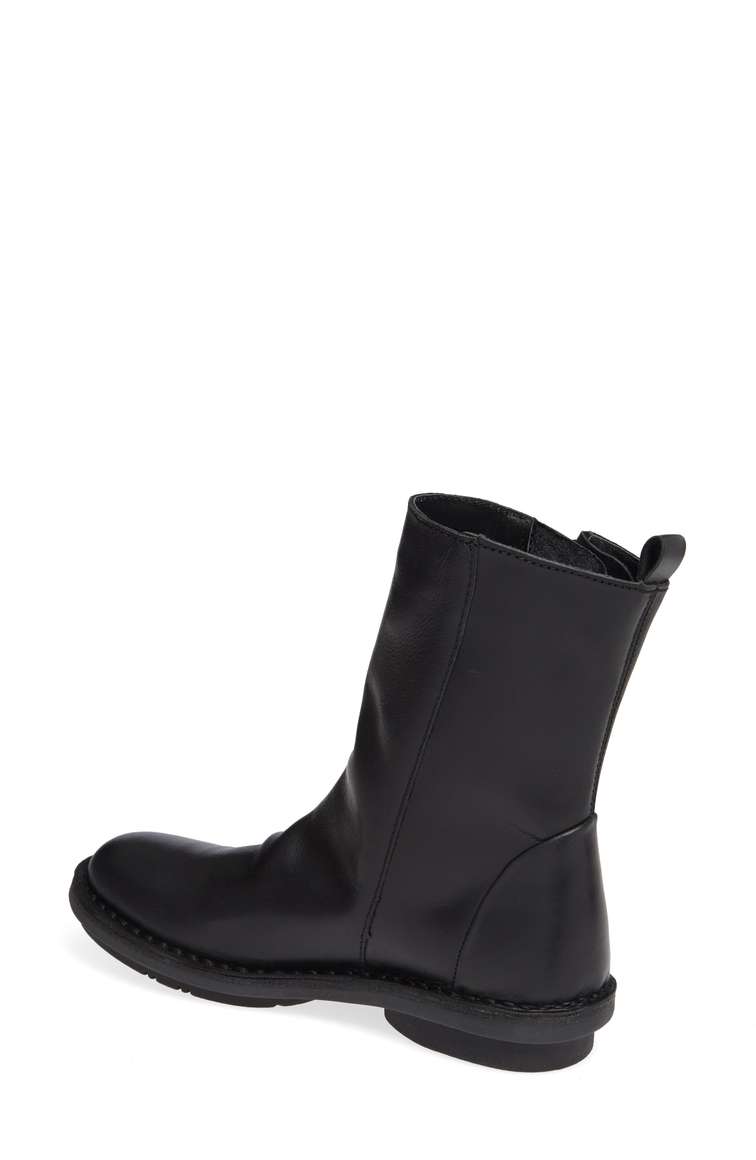 FLY LONDON,                             Fade Boot,                             Alternate thumbnail 2, color,                             BLACK LEATHER