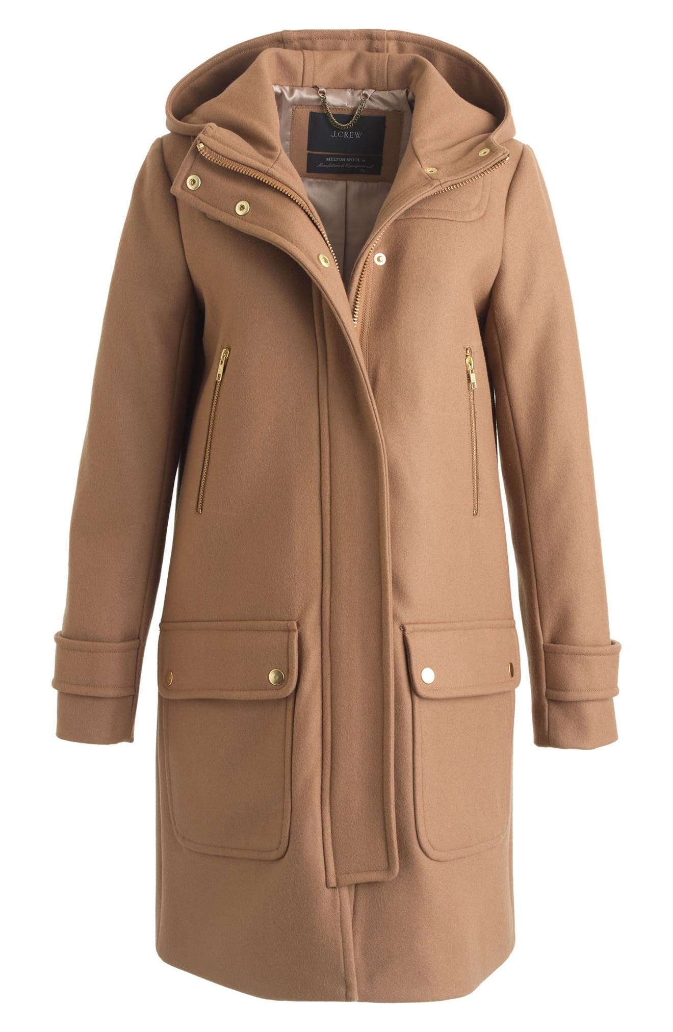 Wool Melton Duffle Coat,                             Main thumbnail 2, color,