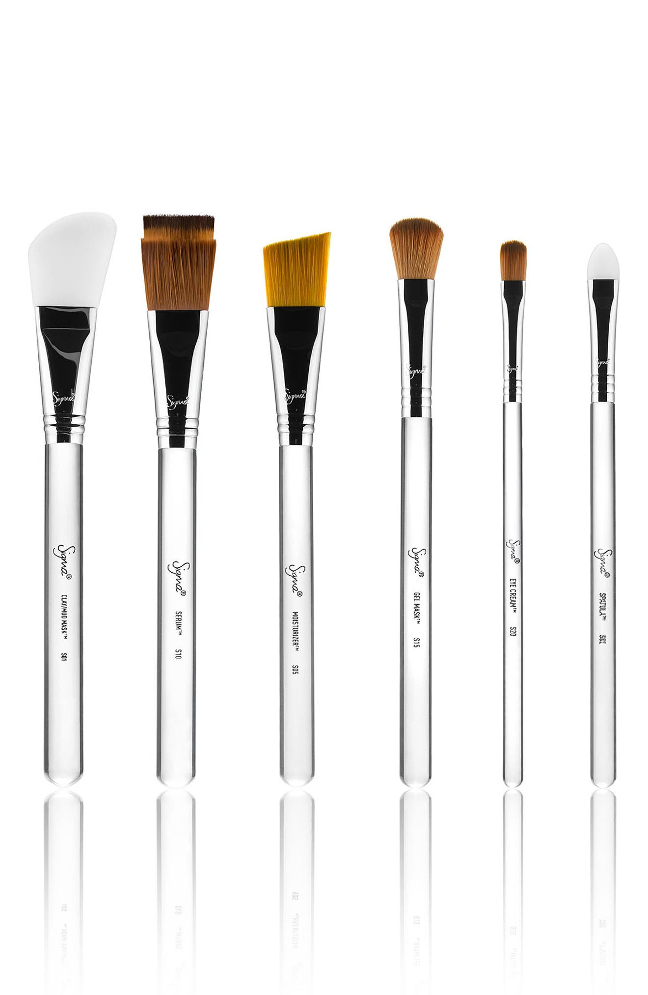 SIGMA BEAUTY,                             Sigma Skincare Brush Set,                             Main thumbnail 1, color,                             NO COLOR