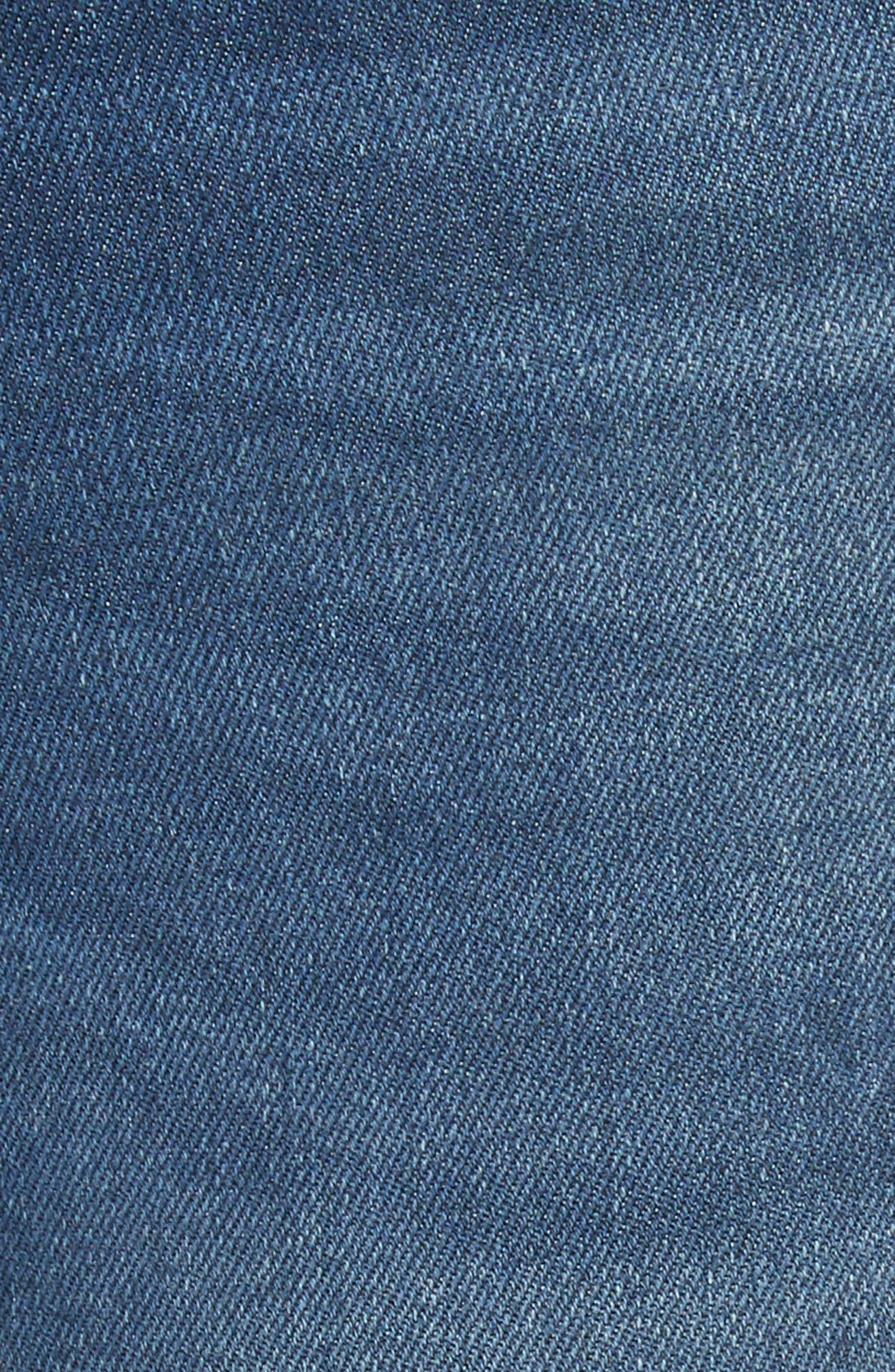 Le Skinny de Jeanne Shredded Raw Hem Jeans,                             Alternate thumbnail 6, color,                             401