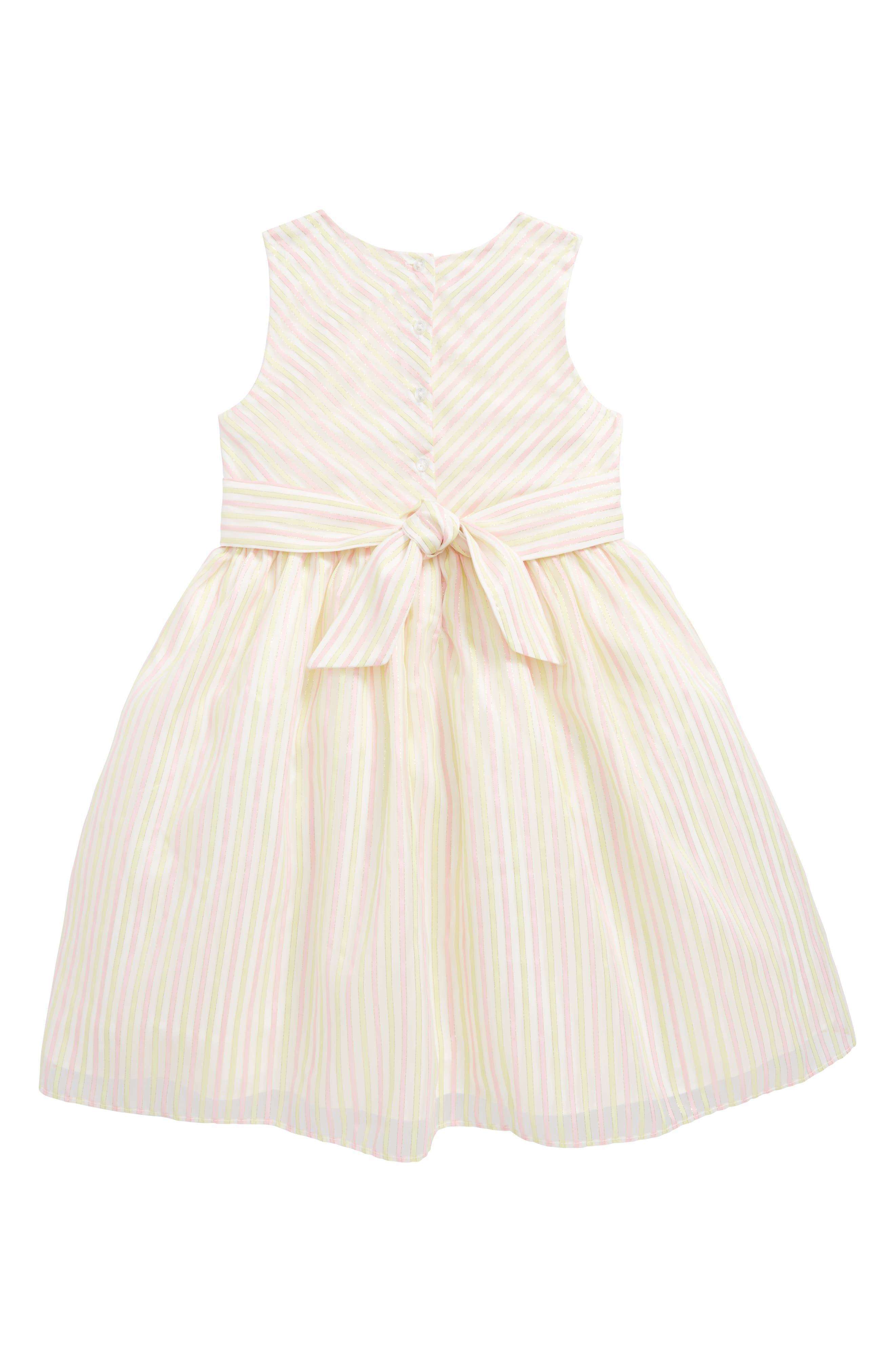 Metallic Stripe Dress,                             Alternate thumbnail 2, color,                             650