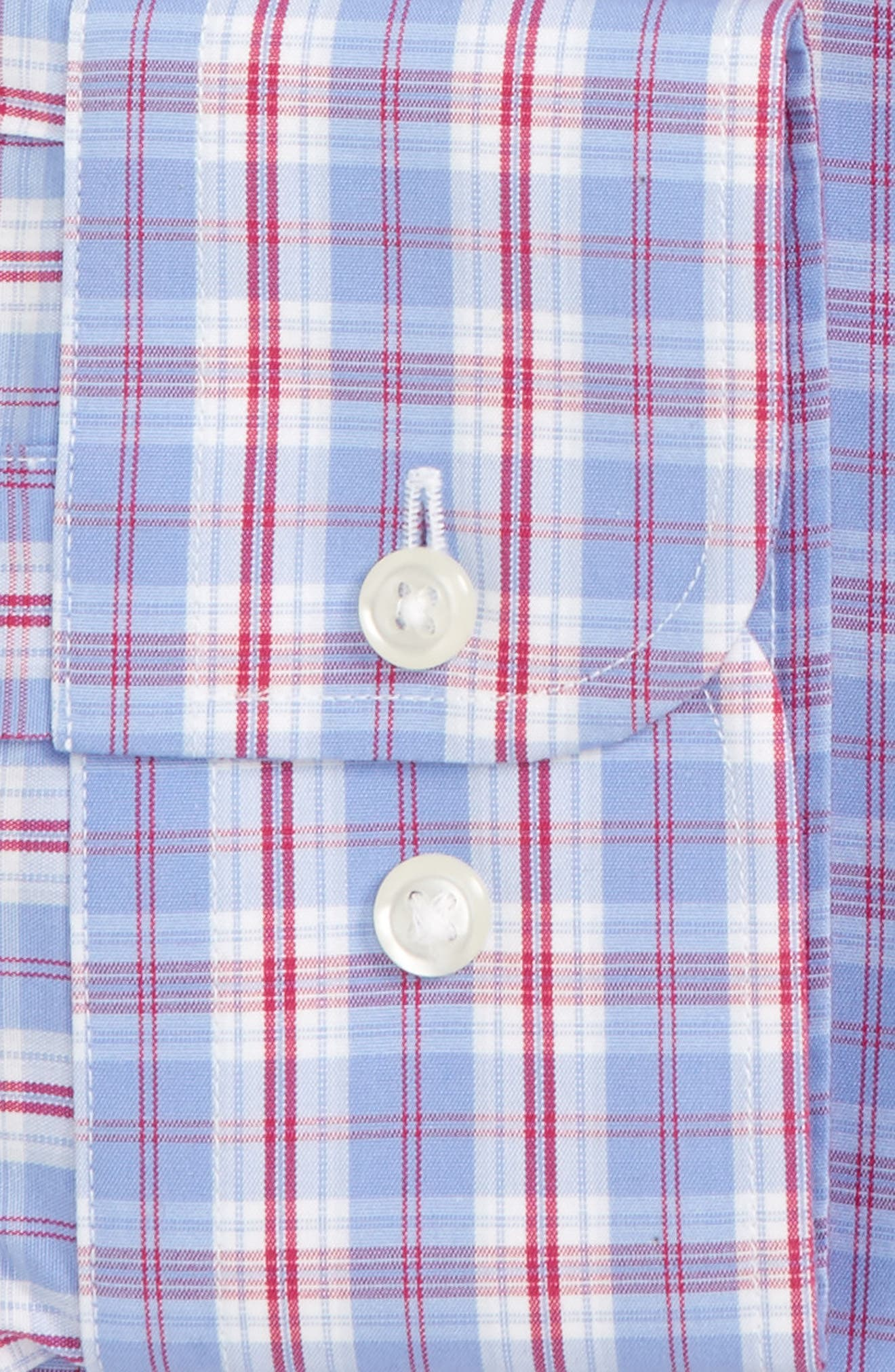 Smartcare<sup>™</sup> Traditional Fit Plaid Dress Shirt,                             Alternate thumbnail 2, color,                             660