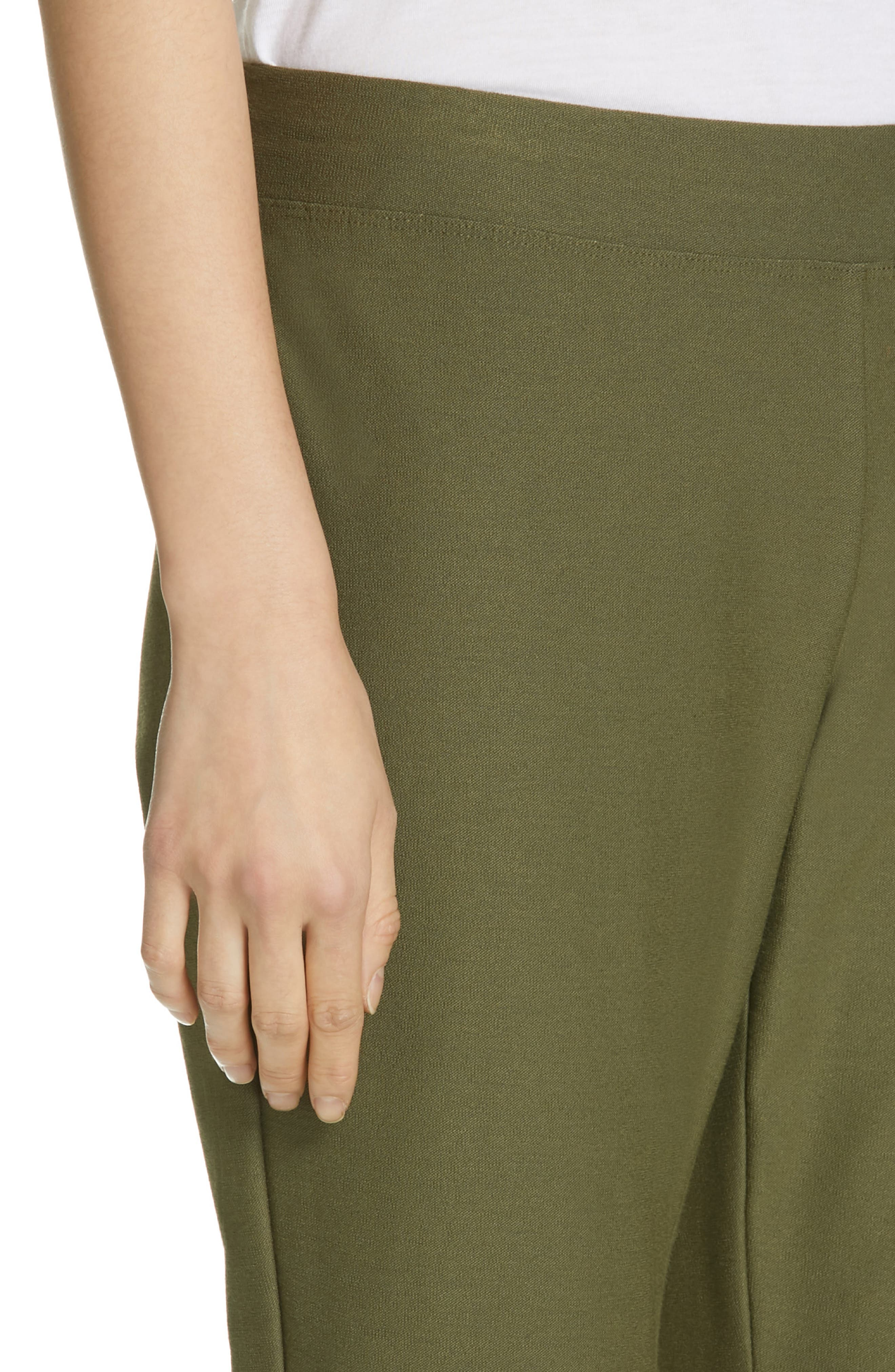 Stretch Crepe Ankle Pants,                             Alternate thumbnail 4, color,                             OLIVE