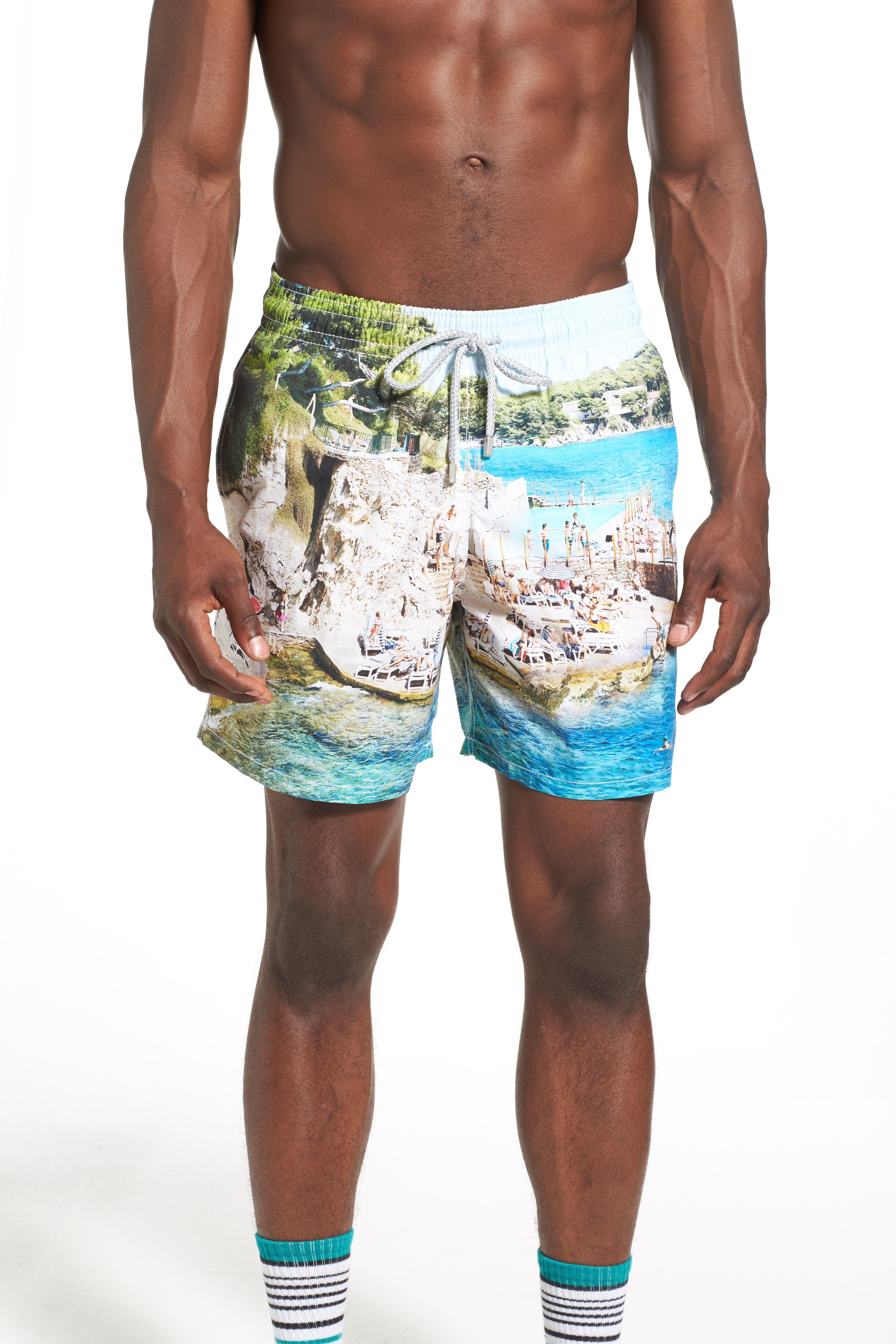 'Massimo Vitali Moorea' Swim Trunks,                             Alternate thumbnail 2, color,                             400