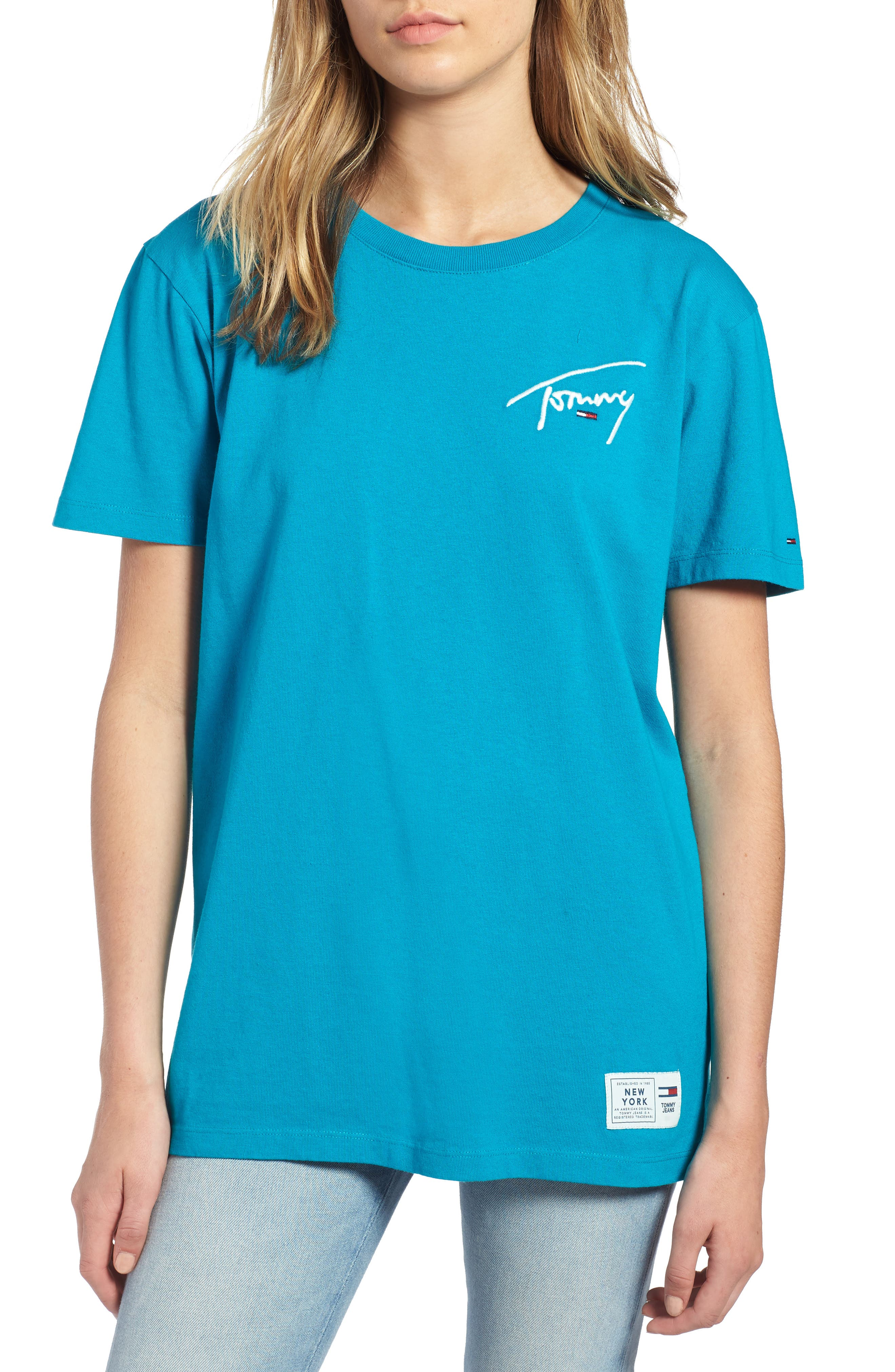 TJW Embroidered Logo Tee,                             Main thumbnail 1, color,                             428