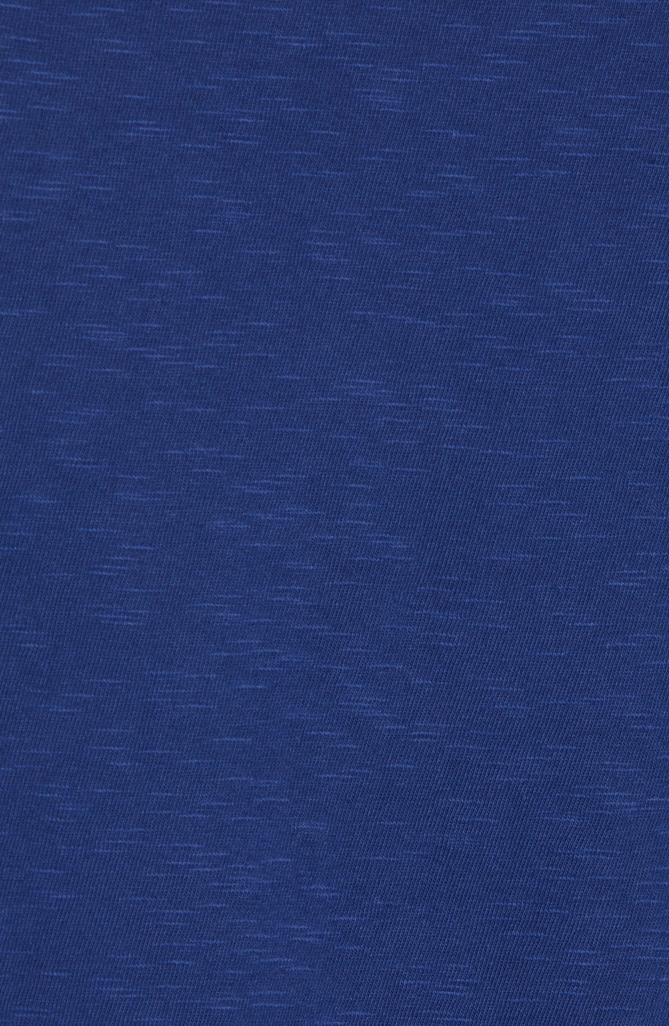 Bleu Slubbed T-Shirt,                             Alternate thumbnail 5, color,                             FATHOM BLUE BLACK