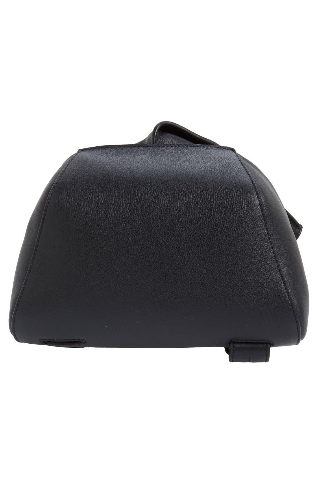 'Small Anton' Calfskin Leather Sling Bag,                             Alternate thumbnail 3, color,                             001