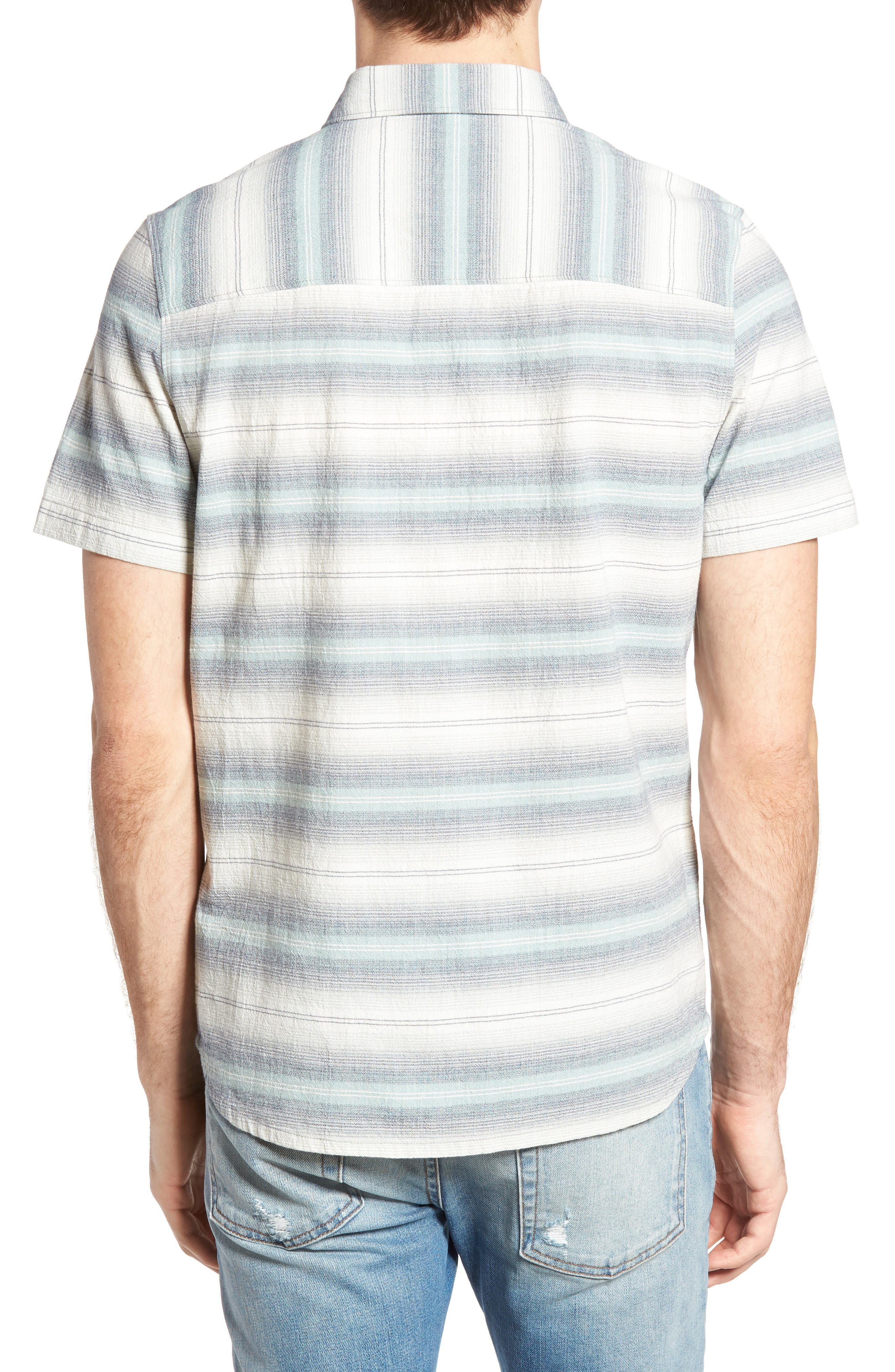Gibson Regular Fit Textured Stripe Sport Shirt,                             Alternate thumbnail 2, color,                             033