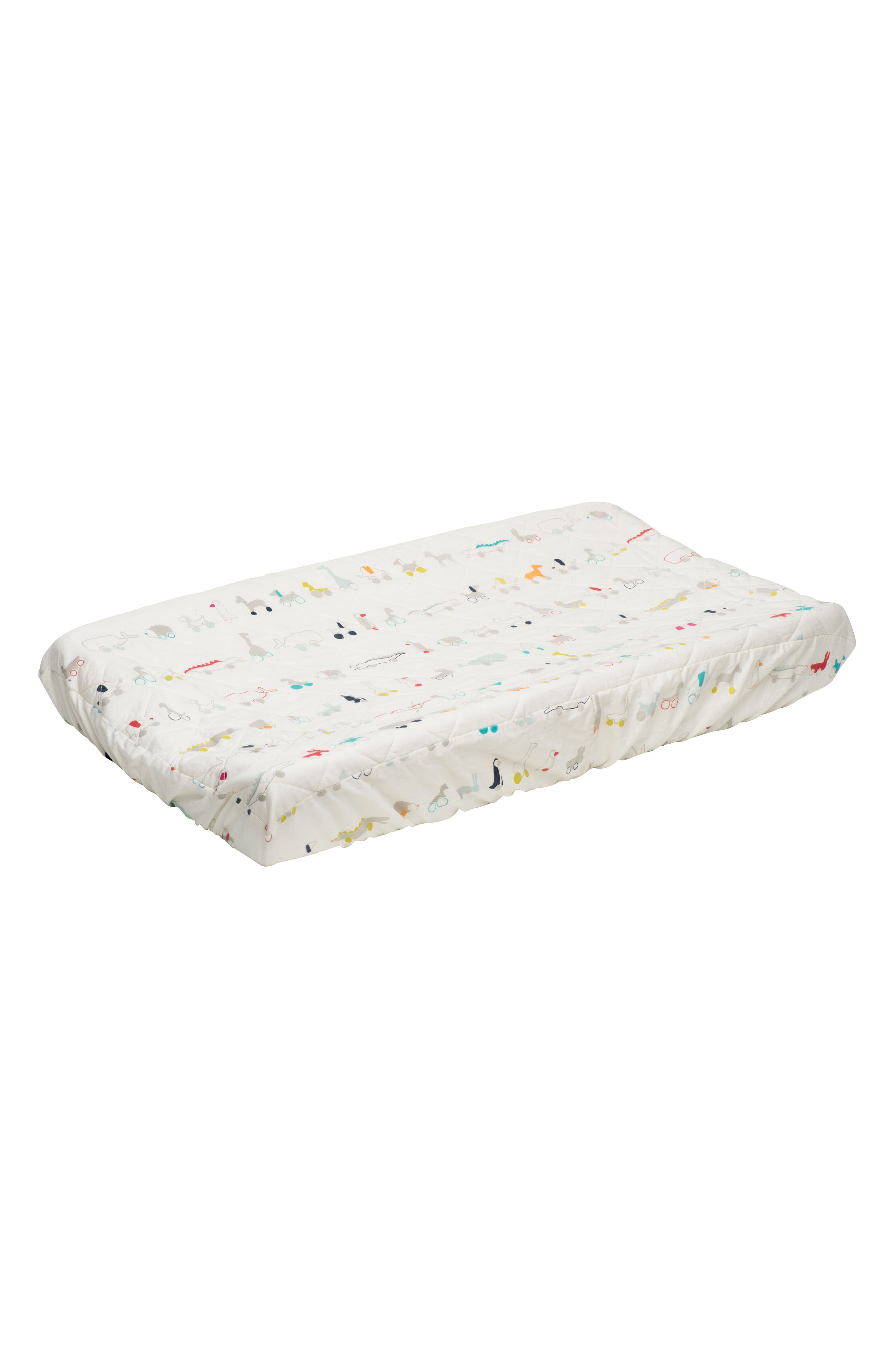 Pull Toys Changing Pad Cover,                             Main thumbnail 1, color,                             MULTI