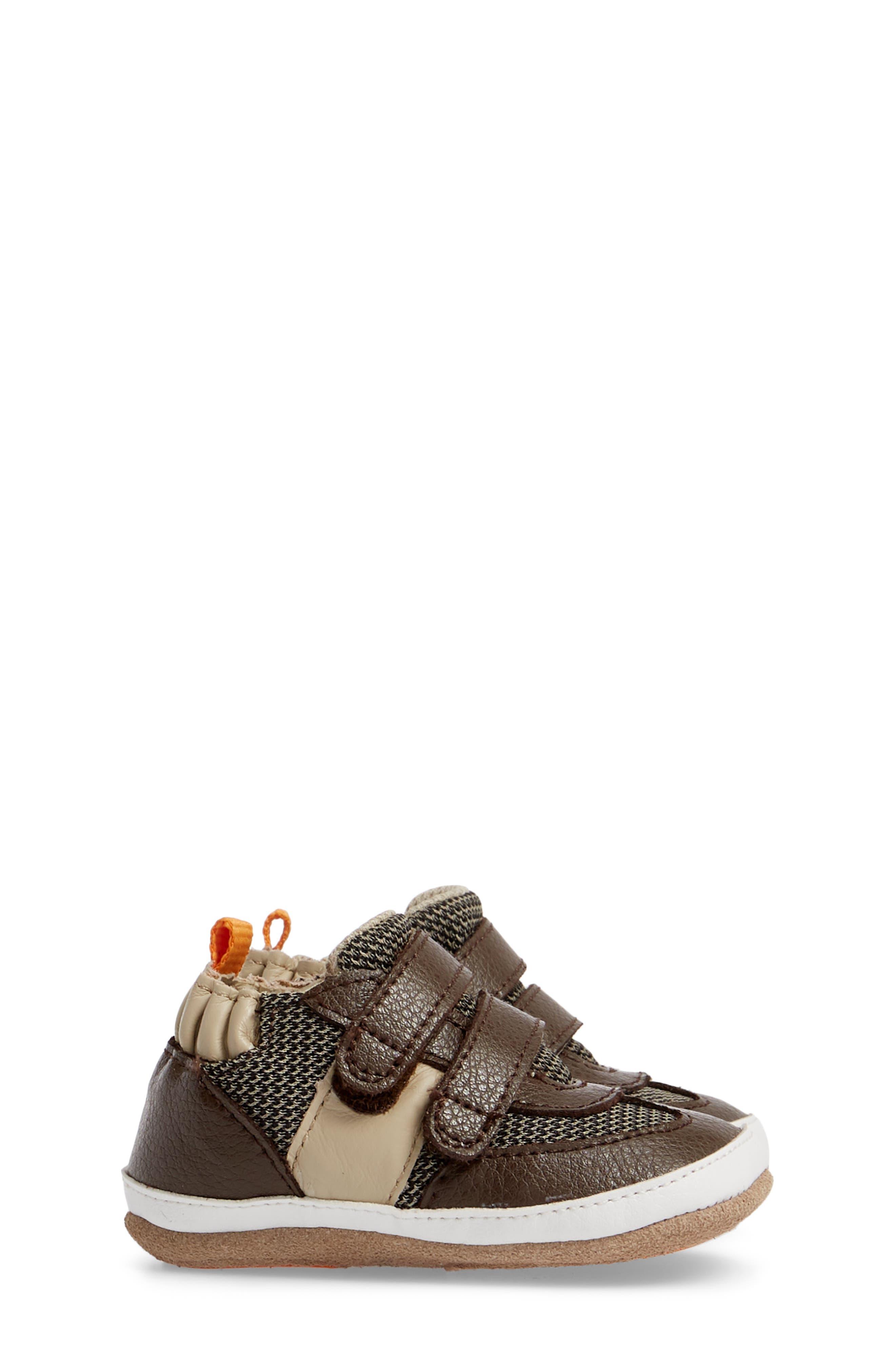 Active Alex Crib Sneaker,                             Alternate thumbnail 3, color,                             ESPRESSO