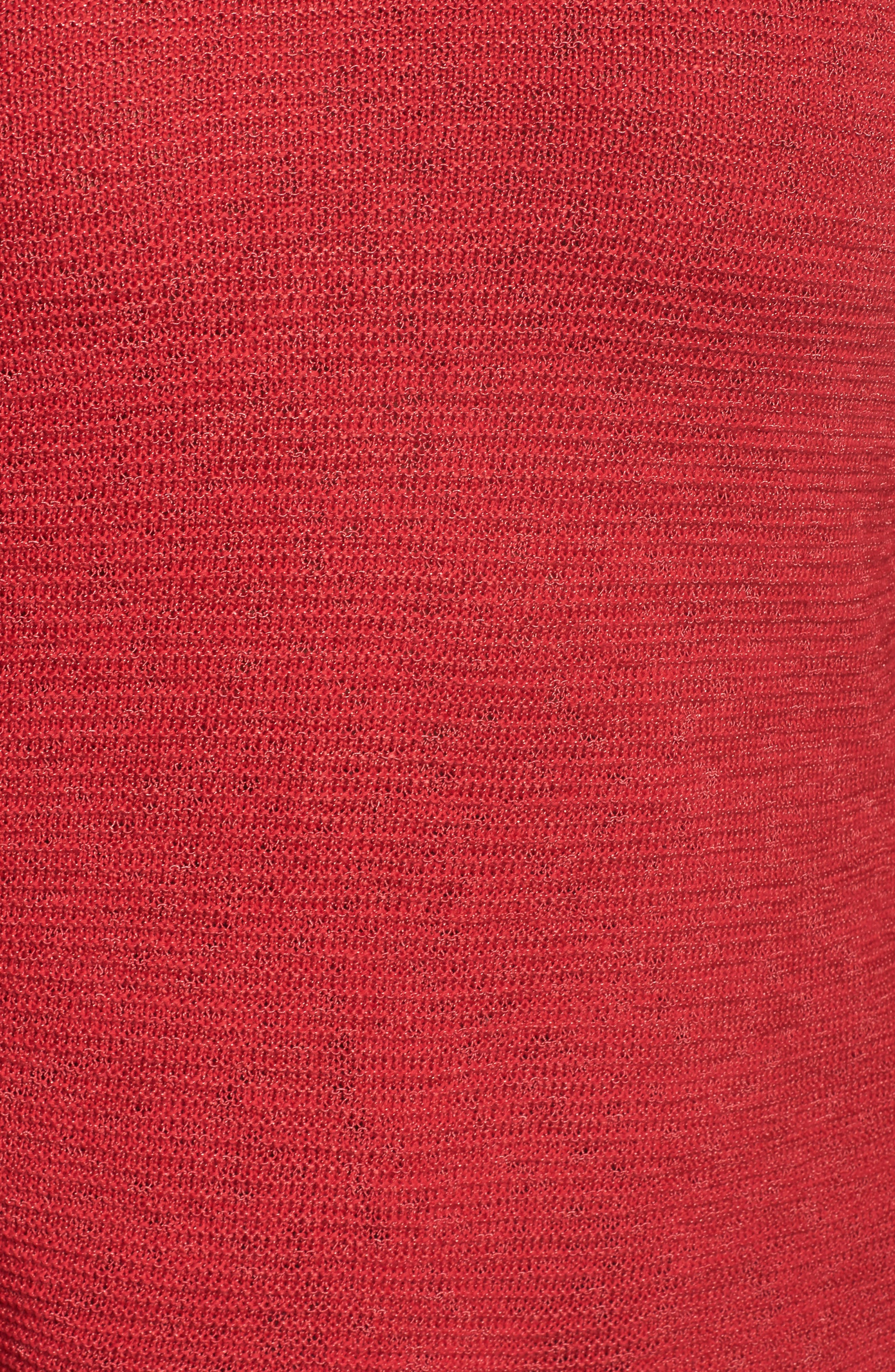Braided Up Sweater,                             Alternate thumbnail 5, color,                             TRUE RED