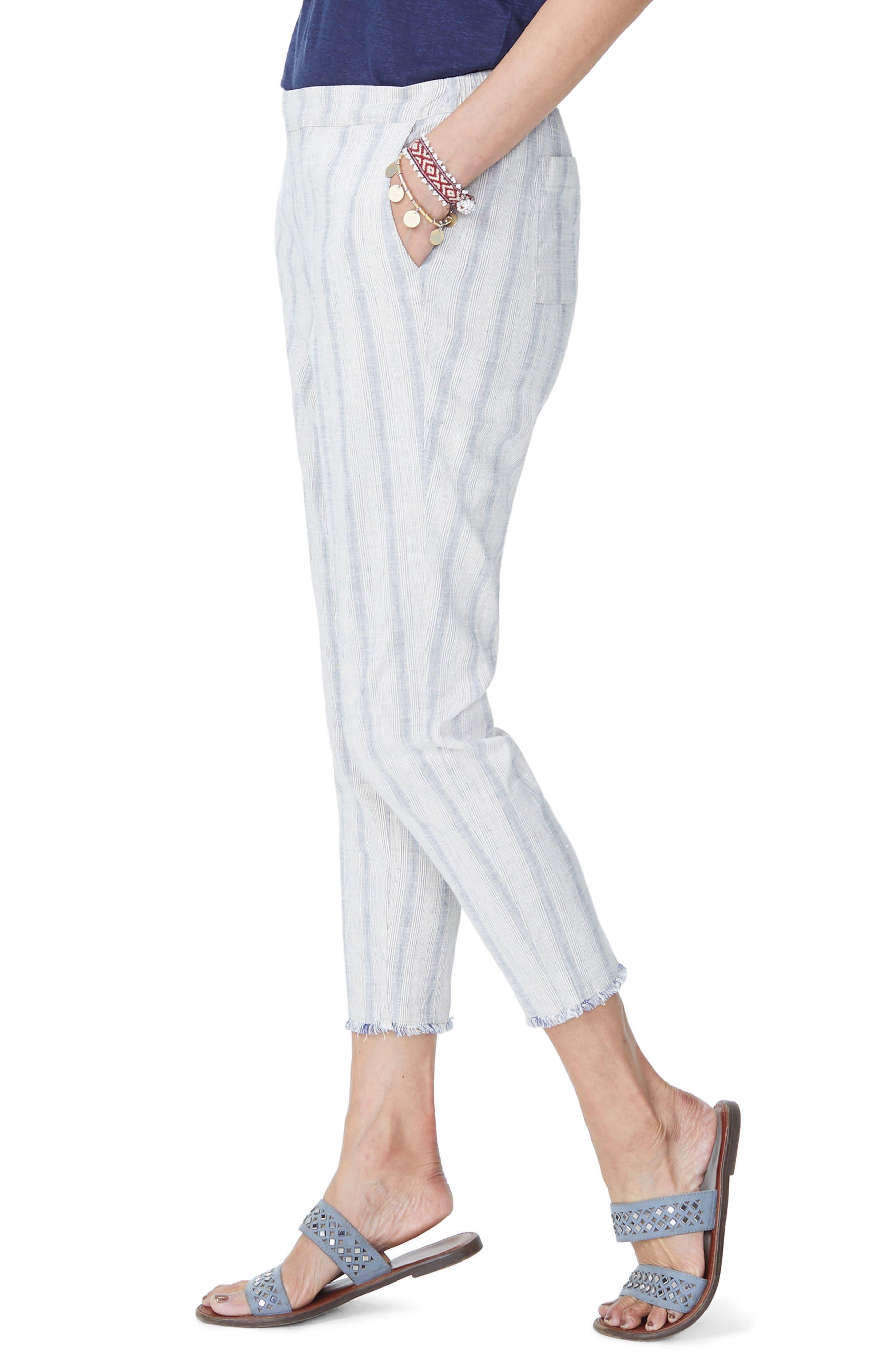Hidden Drawstring Stripe Crop Pants,                             Alternate thumbnail 6, color,