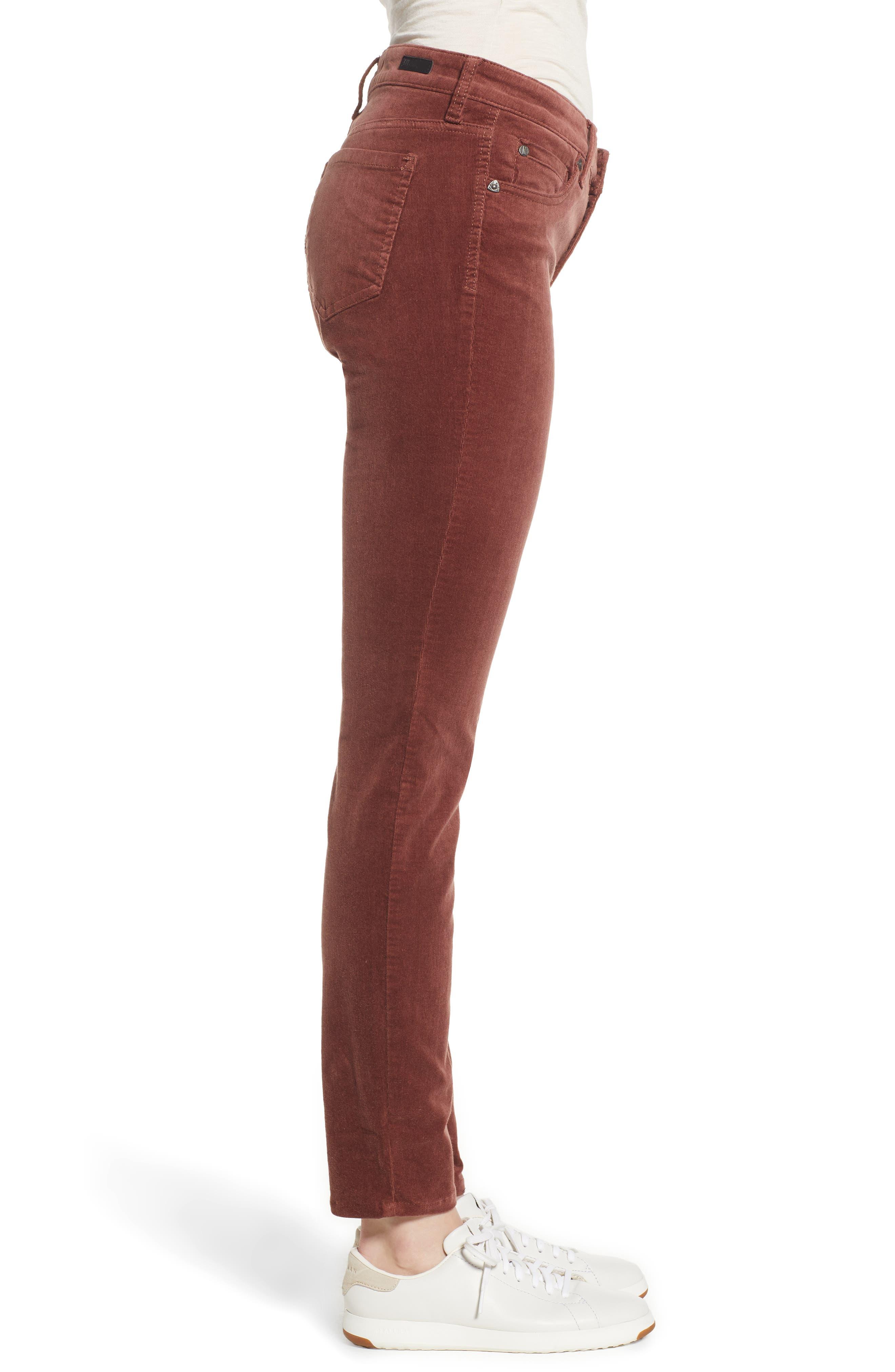 'Diana' Stretch Corduroy Skinny Pants,                             Alternate thumbnail 118, color,