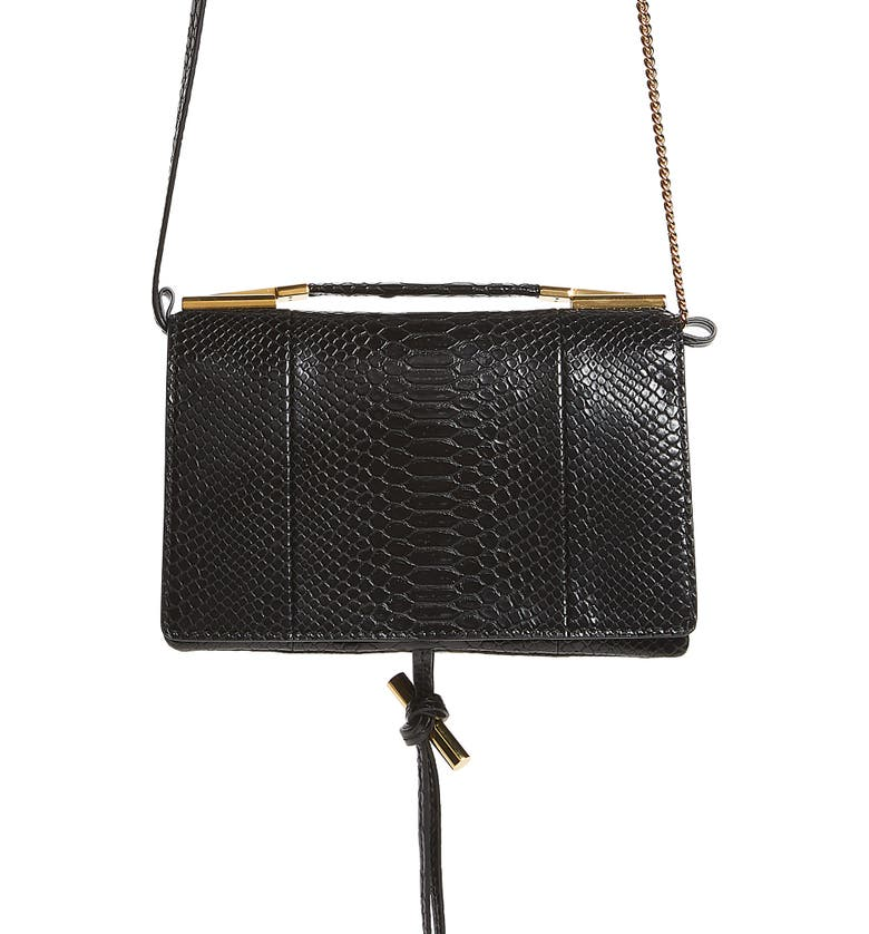 5861264a9eeb Stella McCartney Small Flo Alter Snake Faux Leather Shoulder Bag ...