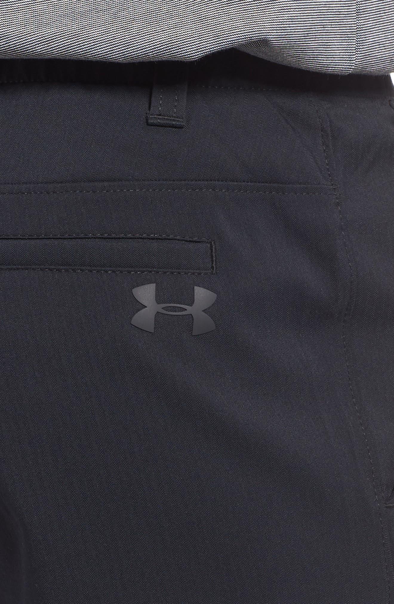 Takeover Regular Fit Golf Shorts,                             Alternate thumbnail 4, color,                             BLACK