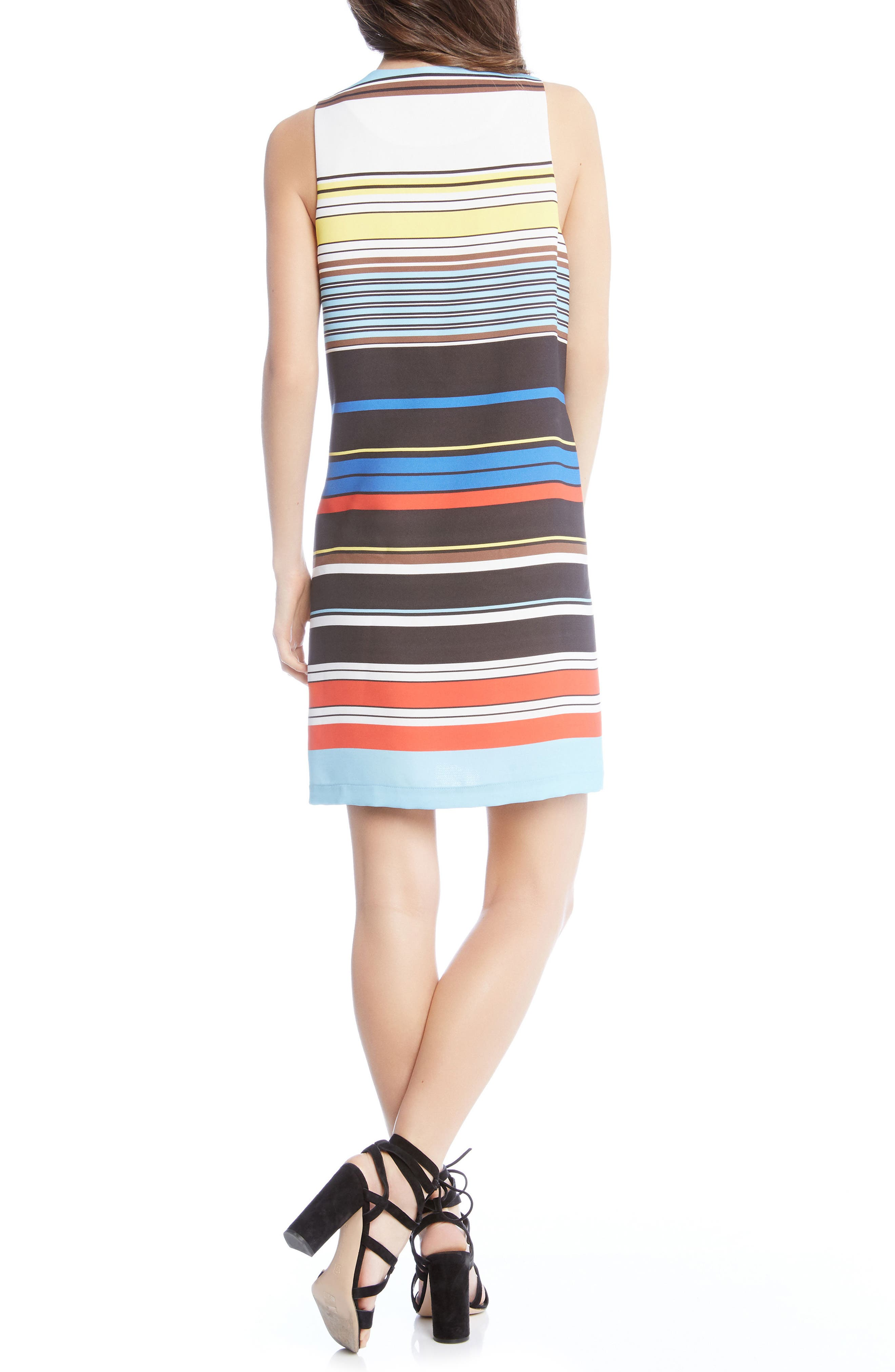 Modern Art Shift Dress,                             Alternate thumbnail 2, color,                             STRIPED