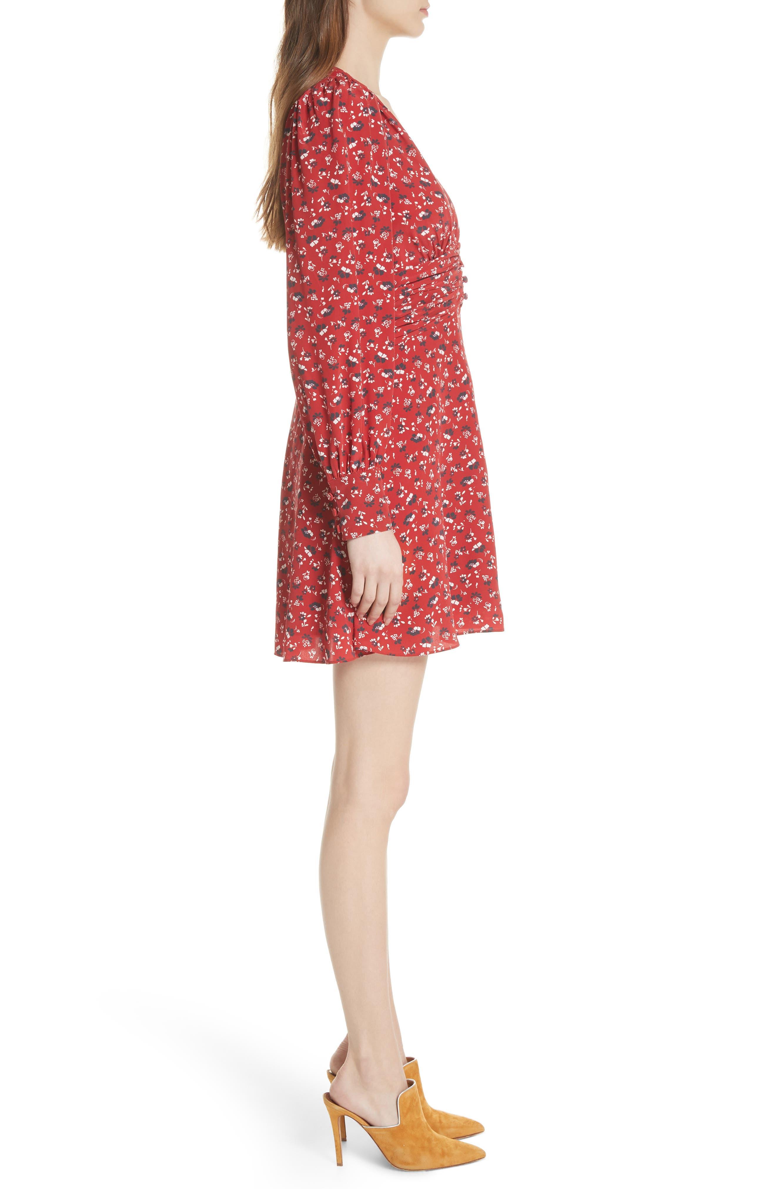 Marion Silk Dress,                             Alternate thumbnail 3, color,                             640