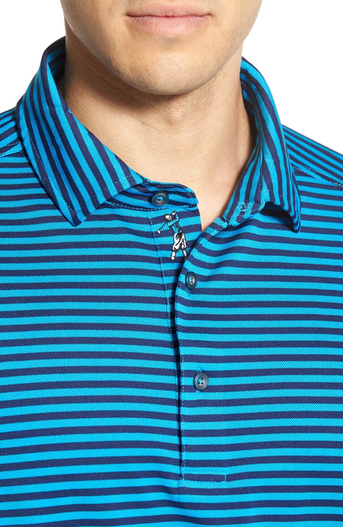 XH2O Feed Stripe Stretch Golf Polo,                             Alternate thumbnail 66, color,