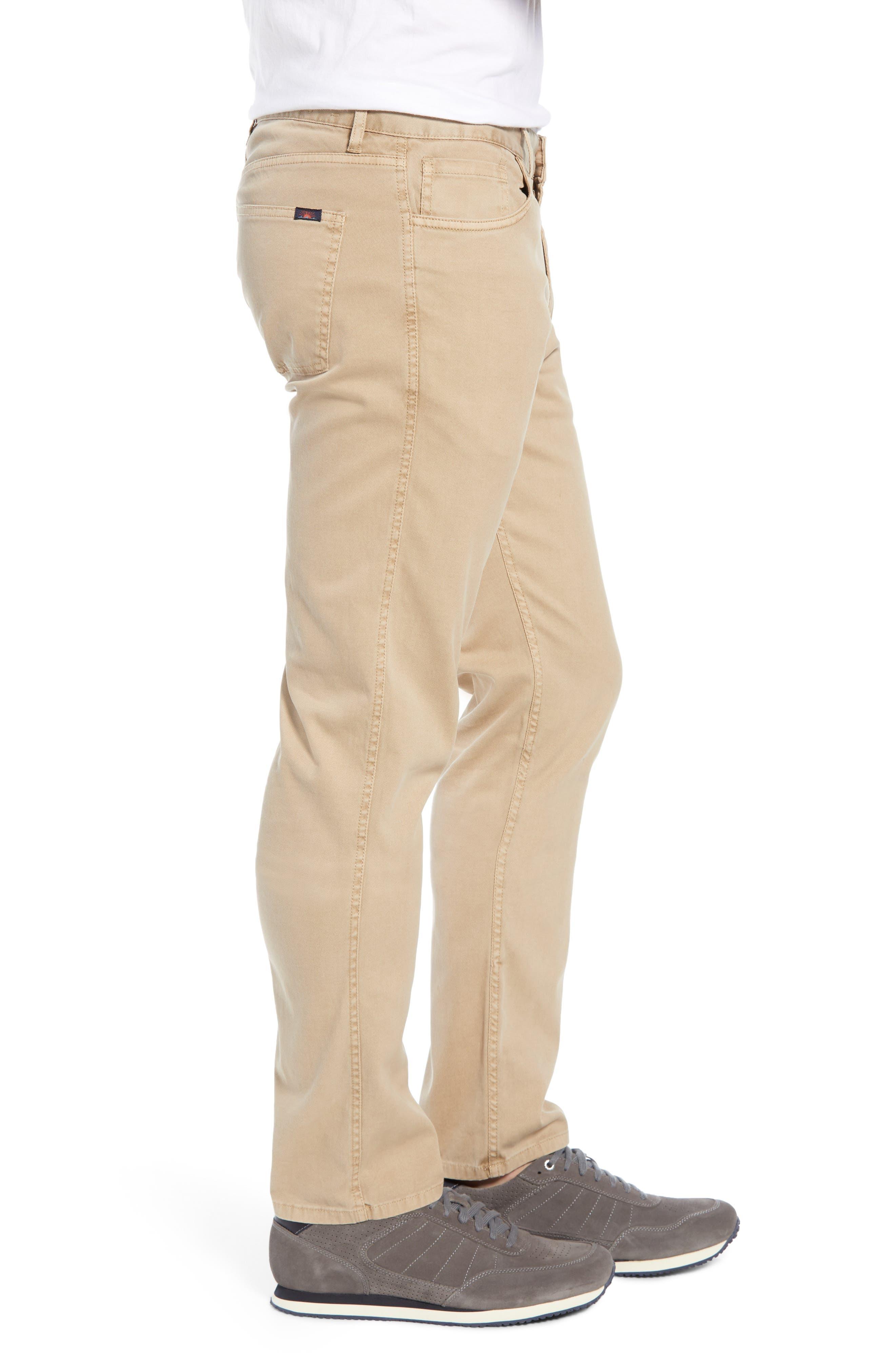 Comfort Twill Five-Pocket Pants,                             Alternate thumbnail 3, color,                             KHAKI