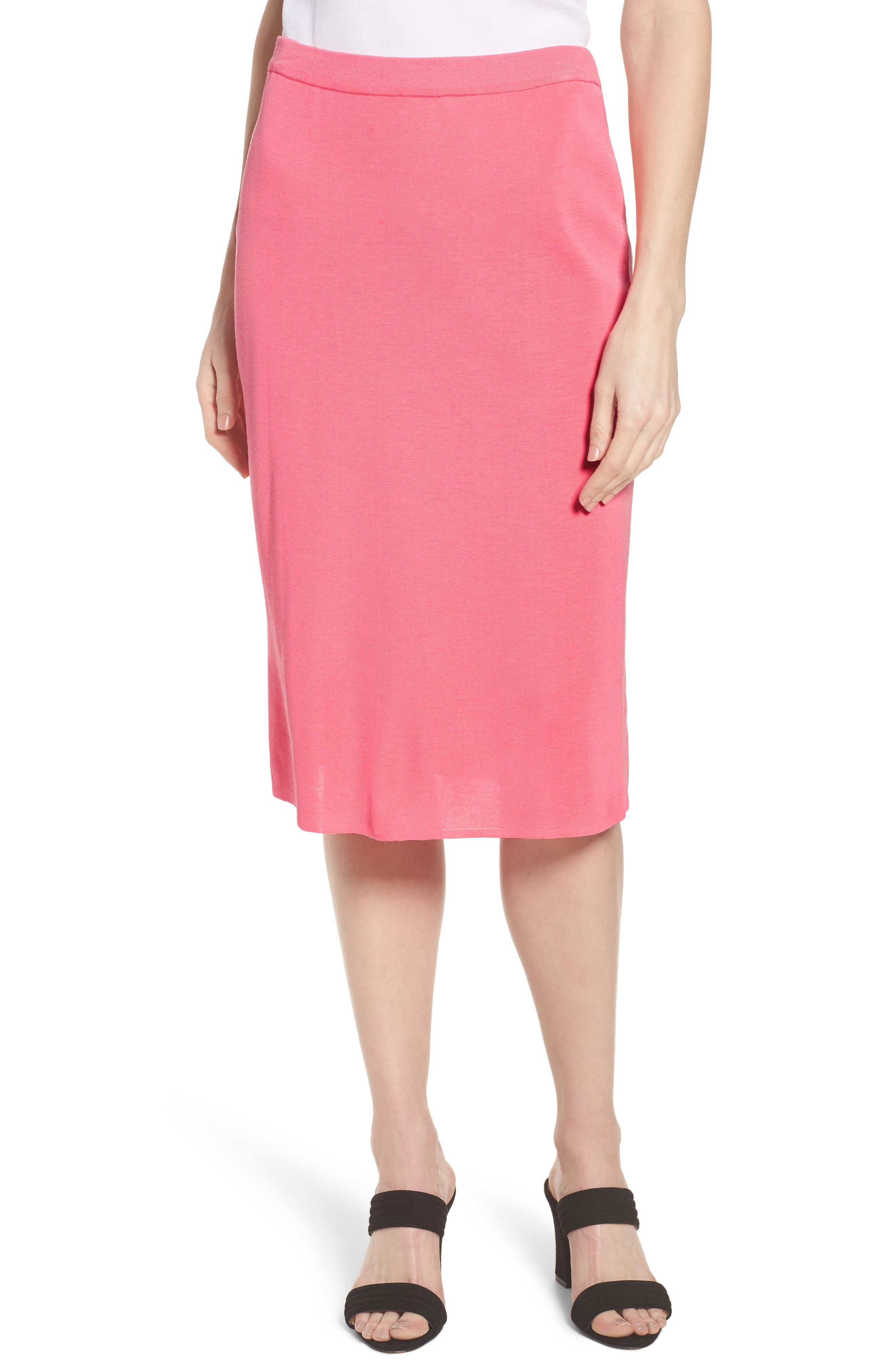 Straight Skirt,                         Main,                         color, PINK LEMONADE