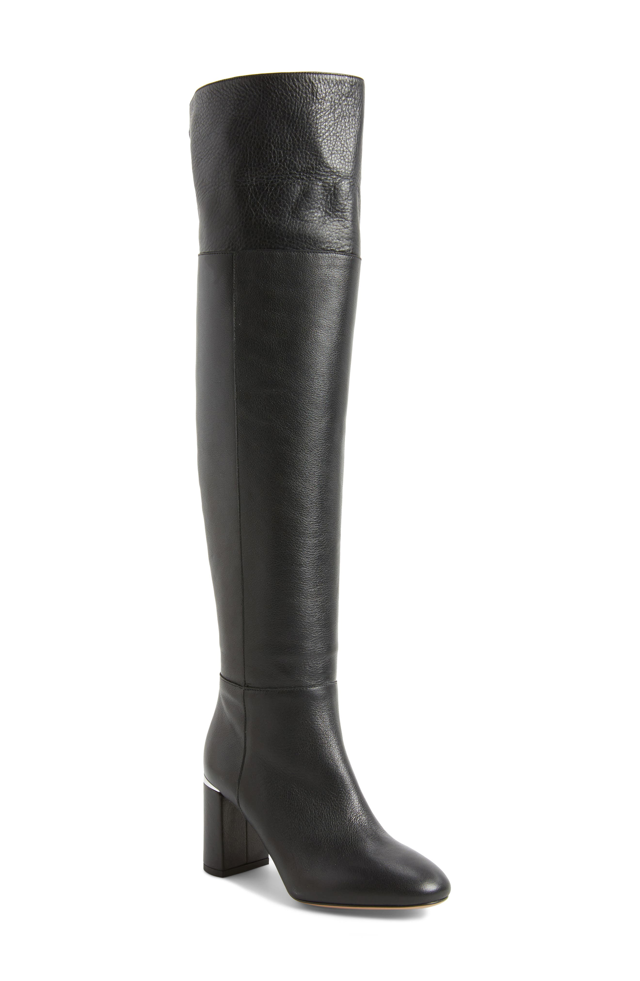 Renata Cuff Over the Knee Boot,                             Main thumbnail 1, color,                             001