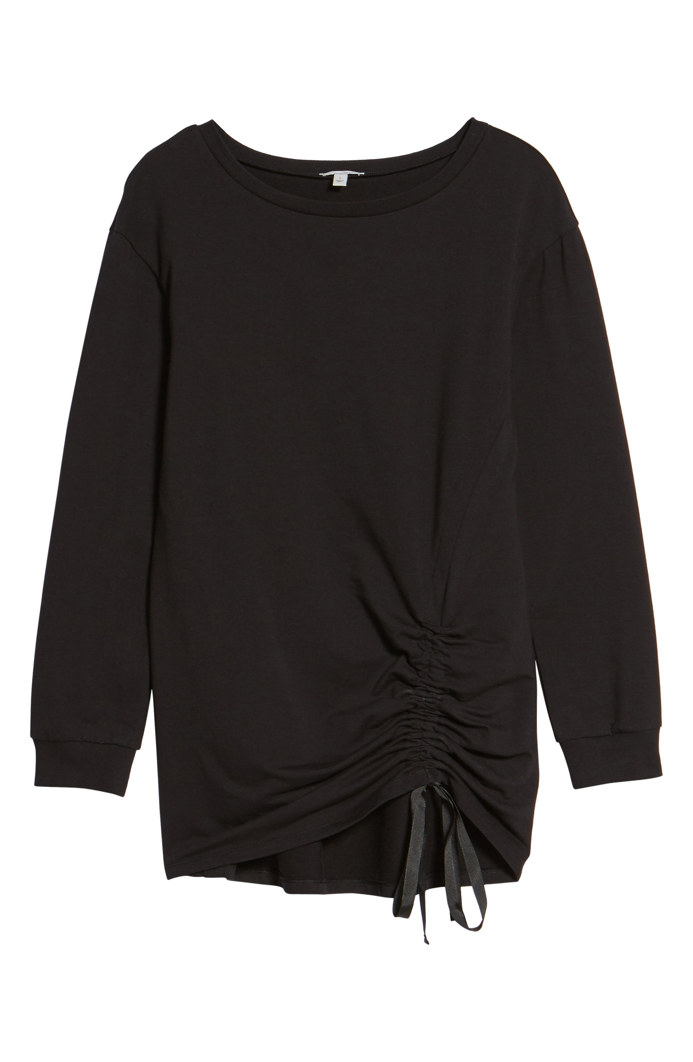 Ruched Front Tunic Sweatshirt,                             Alternate thumbnail 16, color,