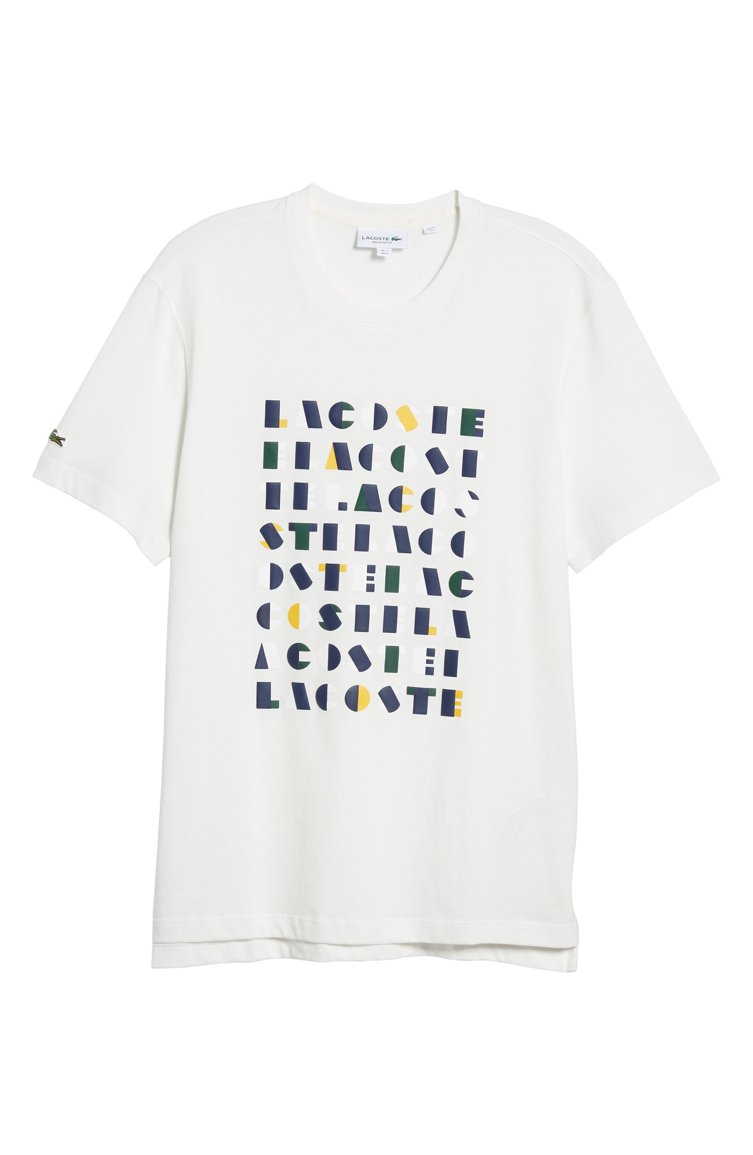 LACOSTE,                             Letter Graphic T-Shirt,                             Alternate thumbnail 6, color,                             104