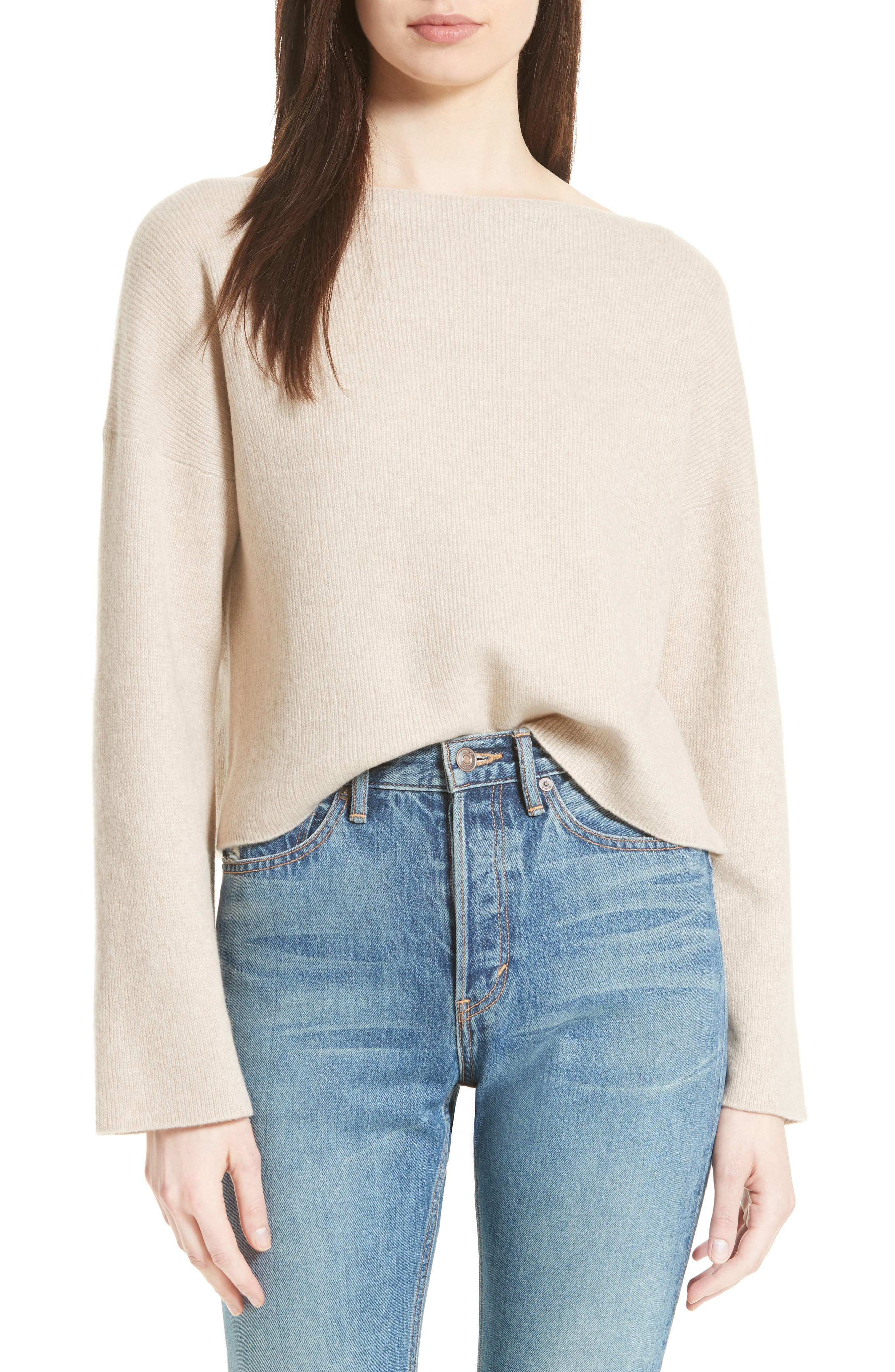 VINCE,                             Boxy Cashmere Sweater,                             Main thumbnail 1, color,                             233