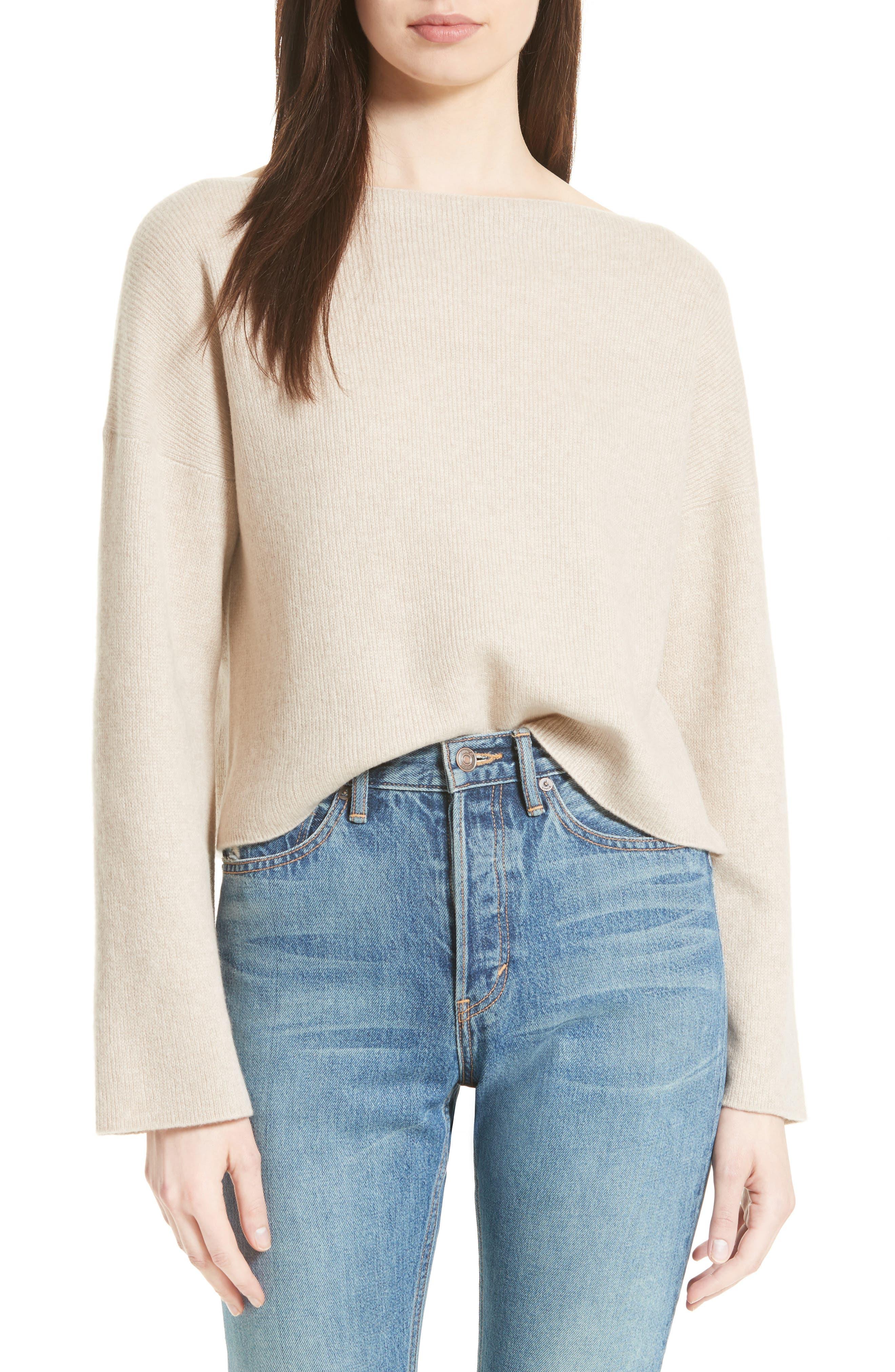VINCE Boxy Cashmere Sweater, Main, color, 233
