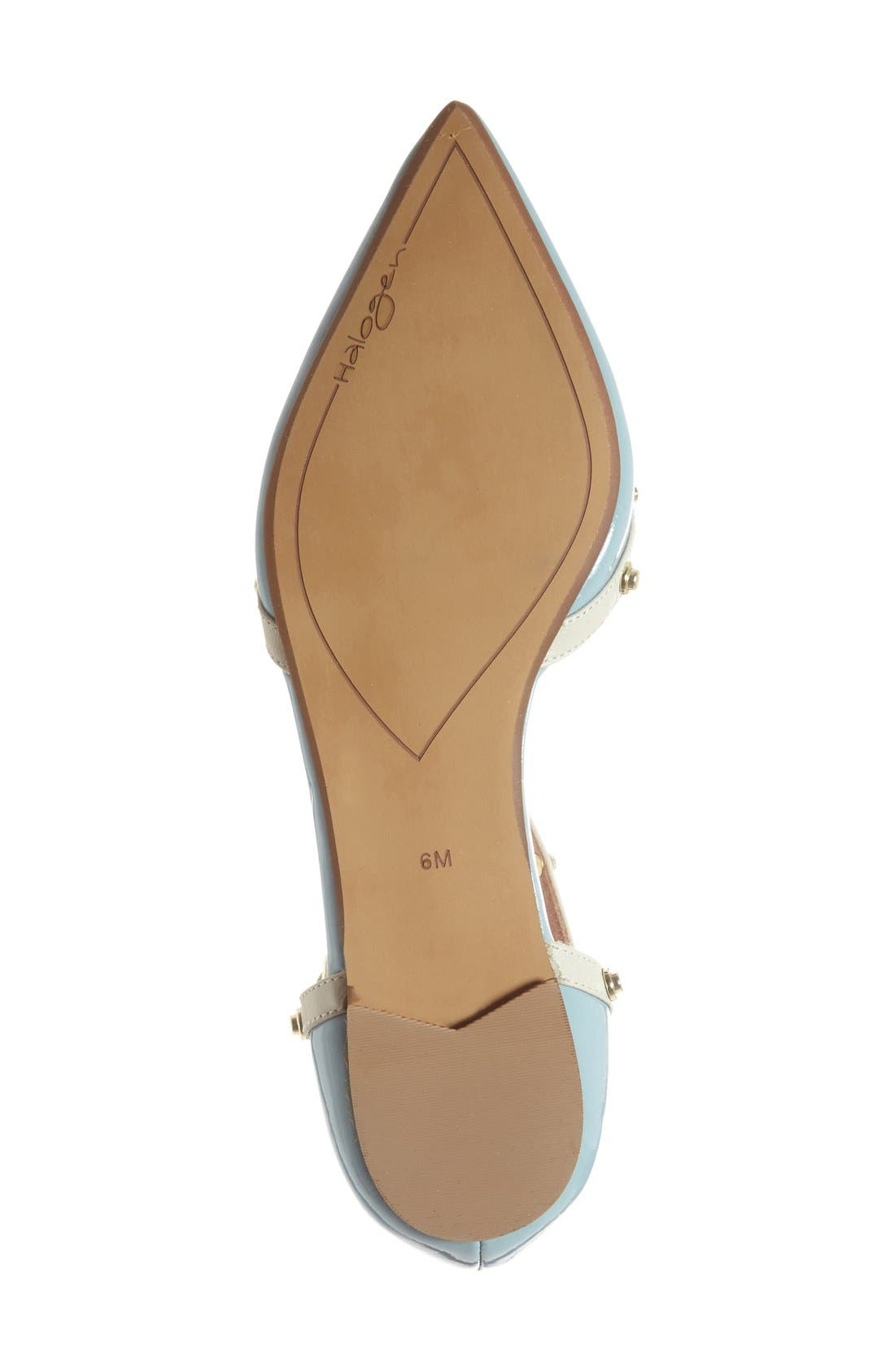 'Olson' Pointy Toe Studded T-Strap Flat,                             Alternate thumbnail 46, color,