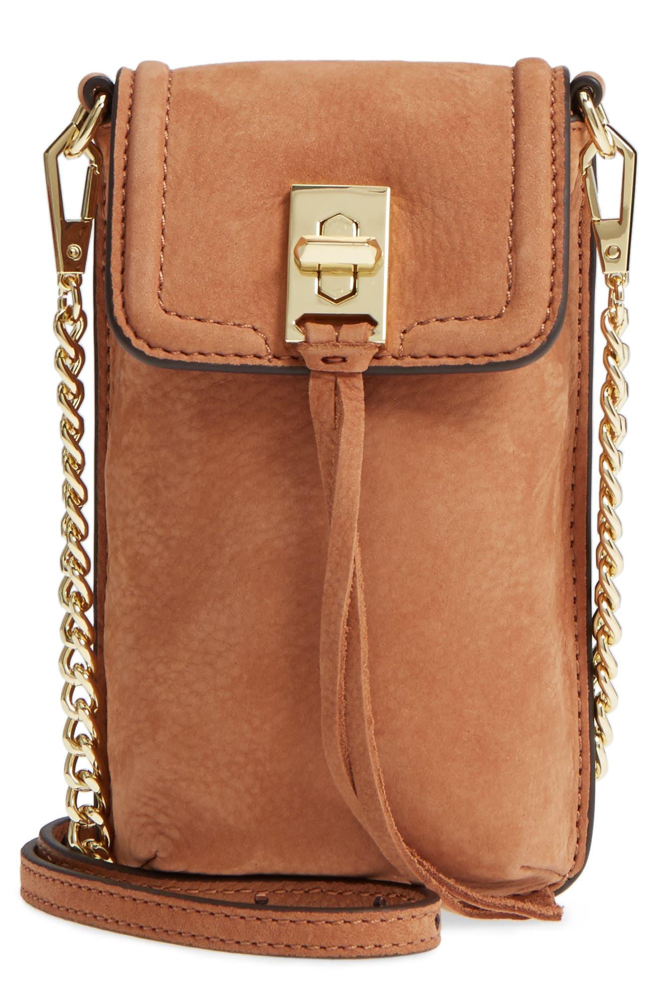Darren Leather Phone Crossbody Bag,                         Main,                         color, 230