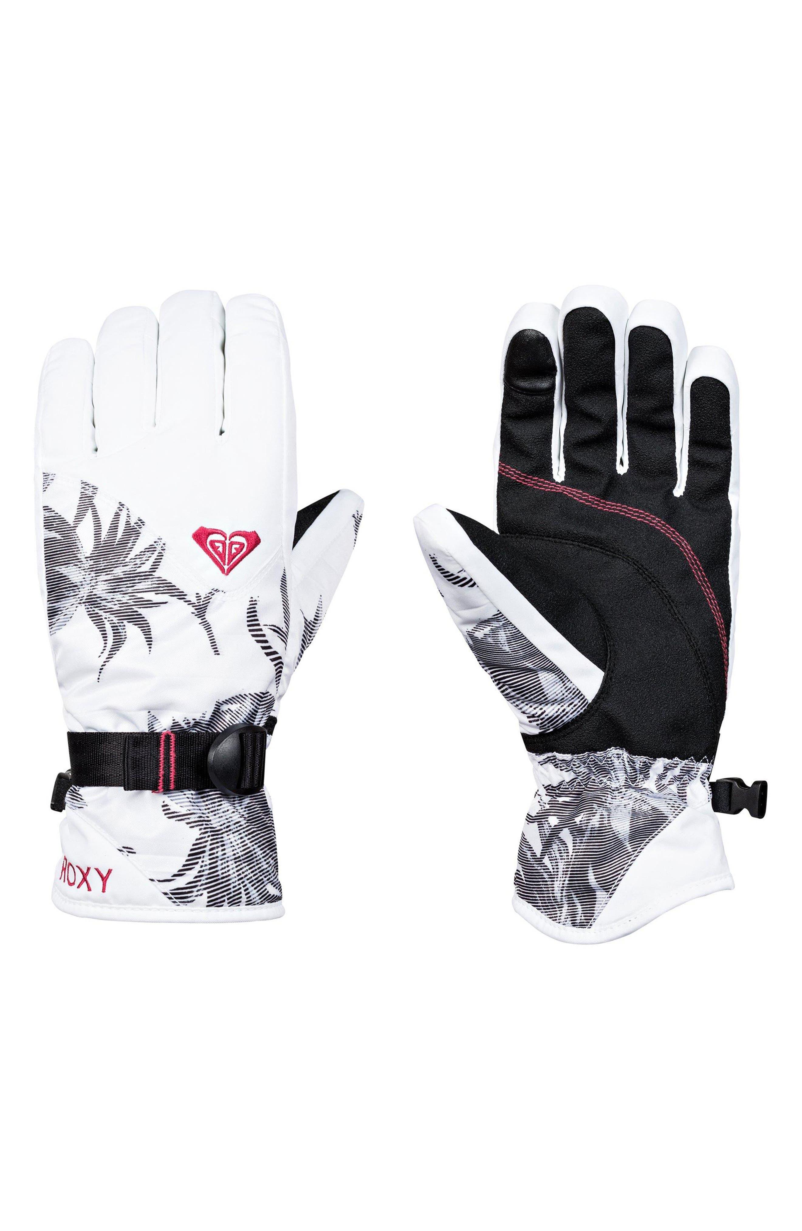 Jetty Print Snow Sport Gloves,                             Main thumbnail 1, color,                             101