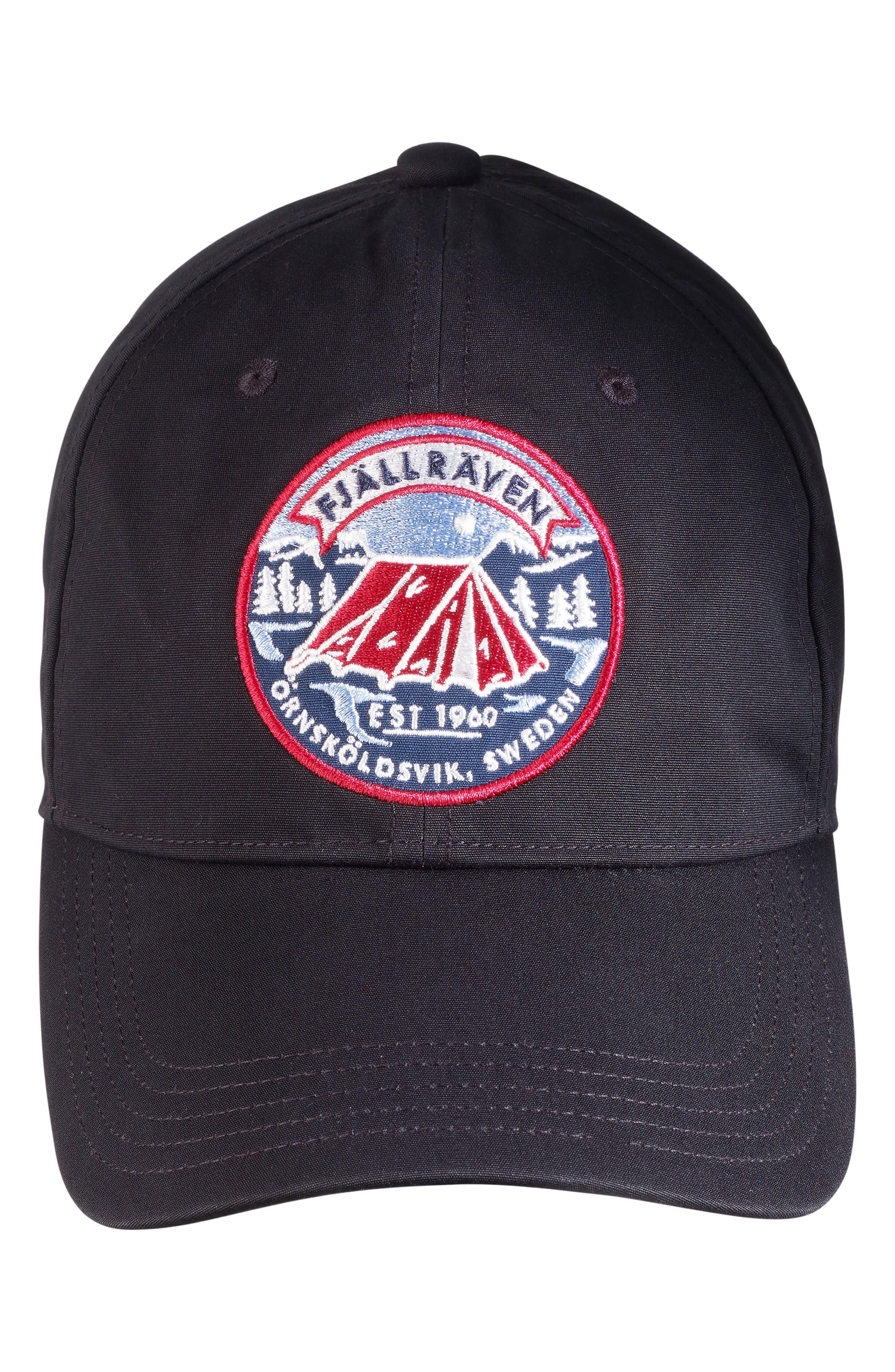 Lägerplats Ball Cap,                         Main,                         color, BLACK