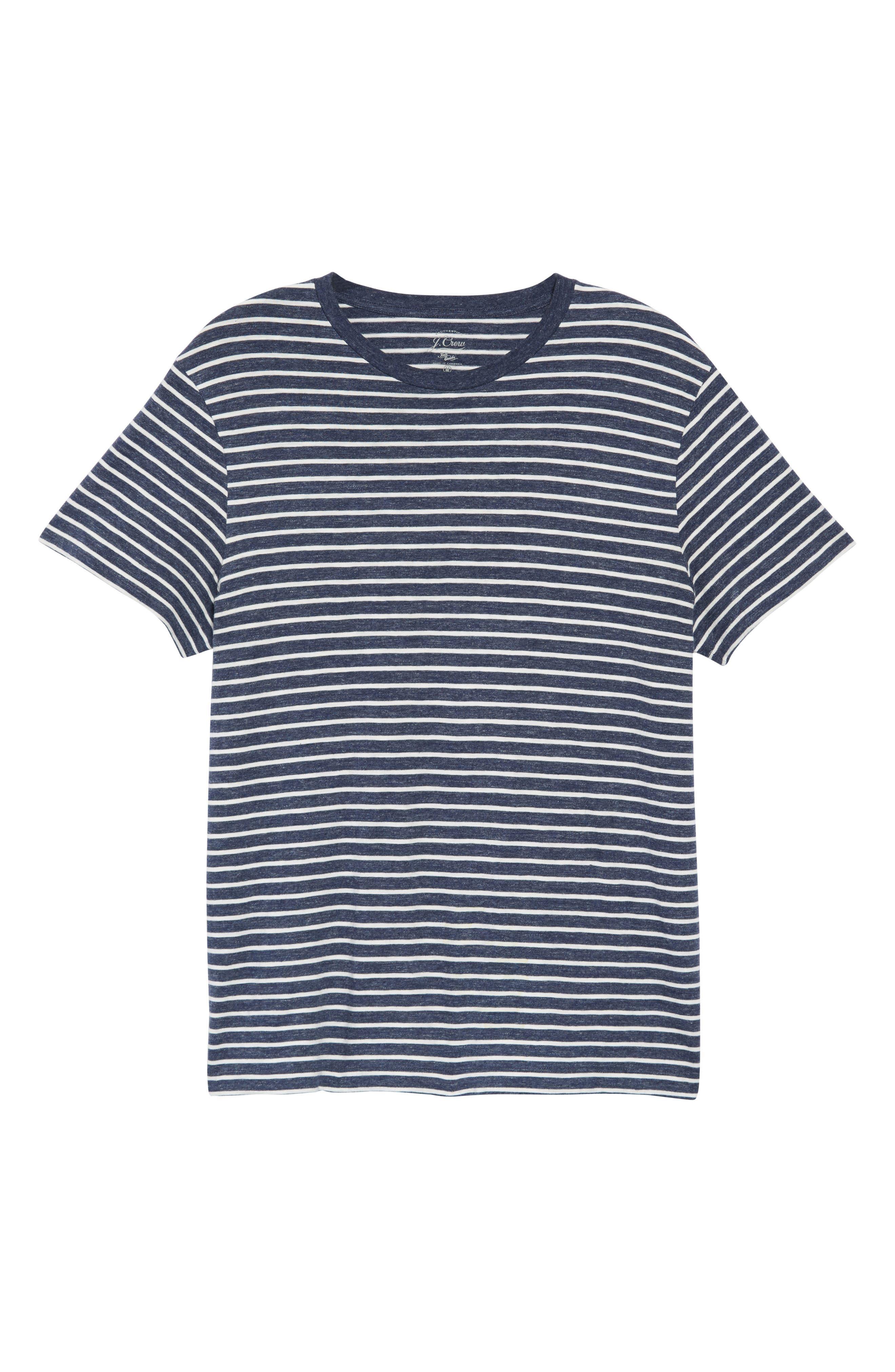 Stripe Slub Cotton T-Shirt,                             Alternate thumbnail 3, color,                             400