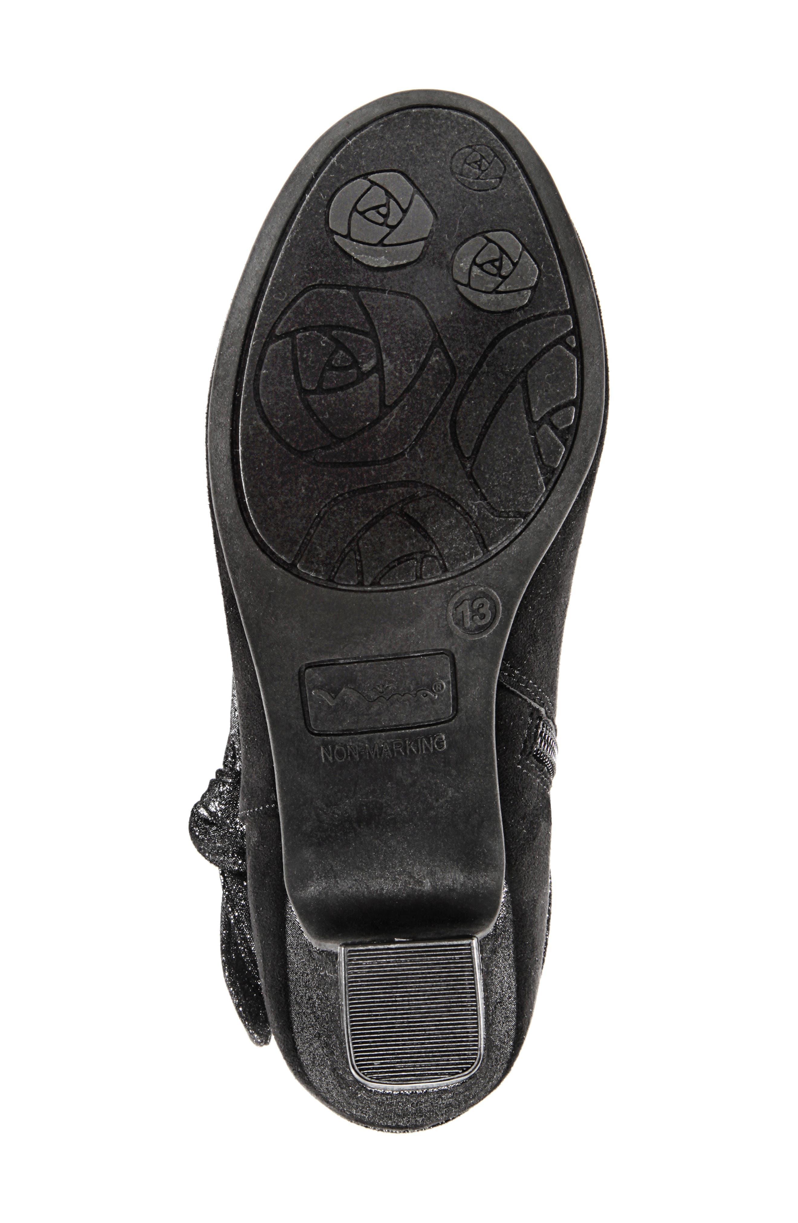 Evelin Block Heel Bootie,                             Alternate thumbnail 12, color,                             BLACK MICRO SUEDE