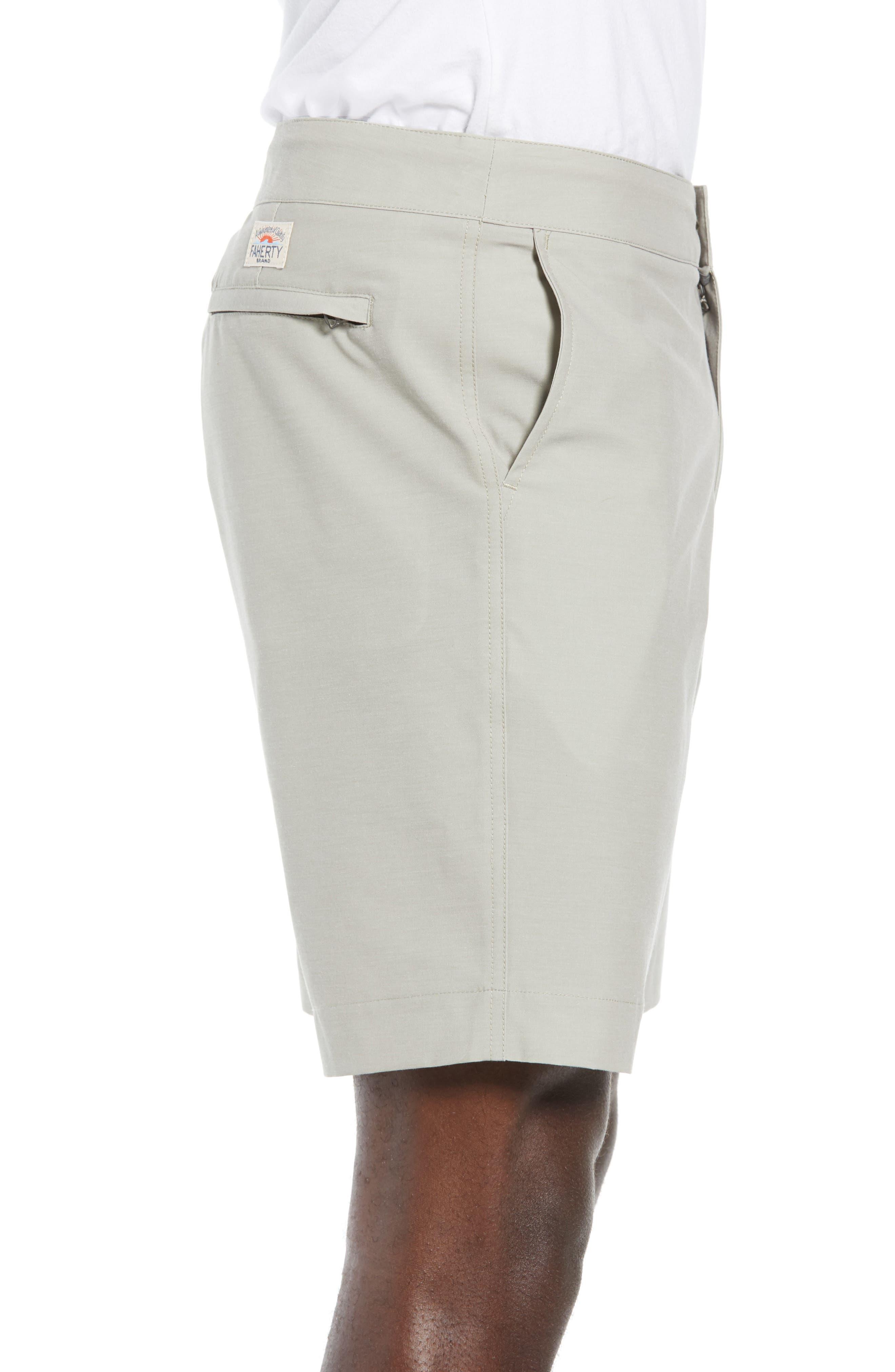 FAHERTY,                             All Day Flat Front Shorts,                             Alternate thumbnail 3, color,                             KHAKI