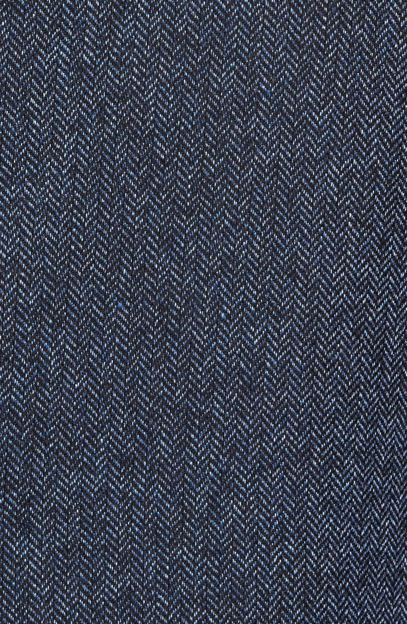 Charring Cross Original Fit Herringbone Sport Coat,                             Alternate thumbnail 6, color,                             419
