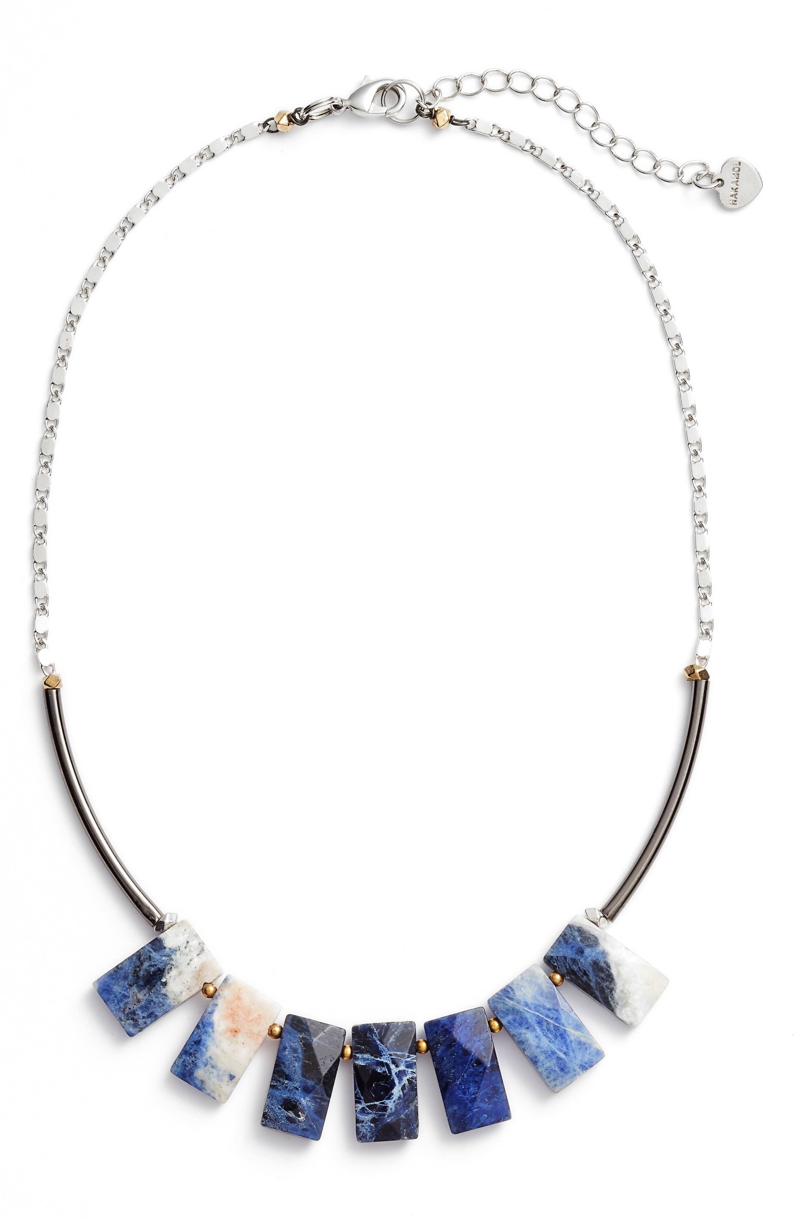 Cirrus Lapis Pendant Necklace,                         Main,                         color,