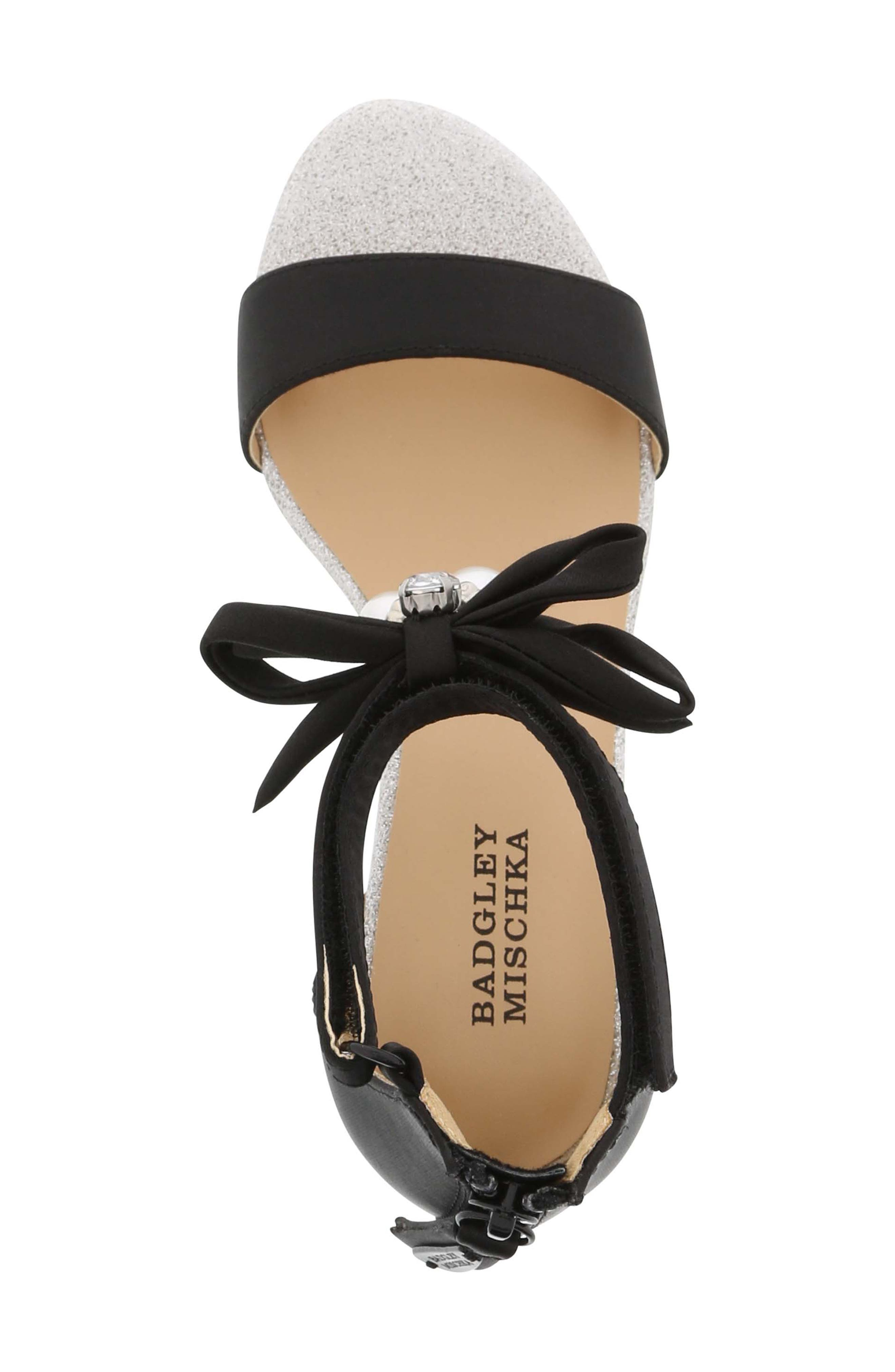 Pernia Embellished Sandal,                             Alternate thumbnail 5, color,                             BLACK