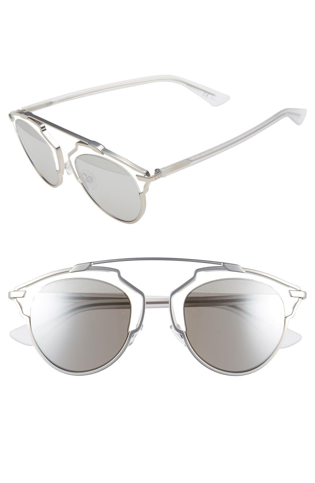 So Real 48mm Brow Bar Sunglasses,                             Main thumbnail 15, color,