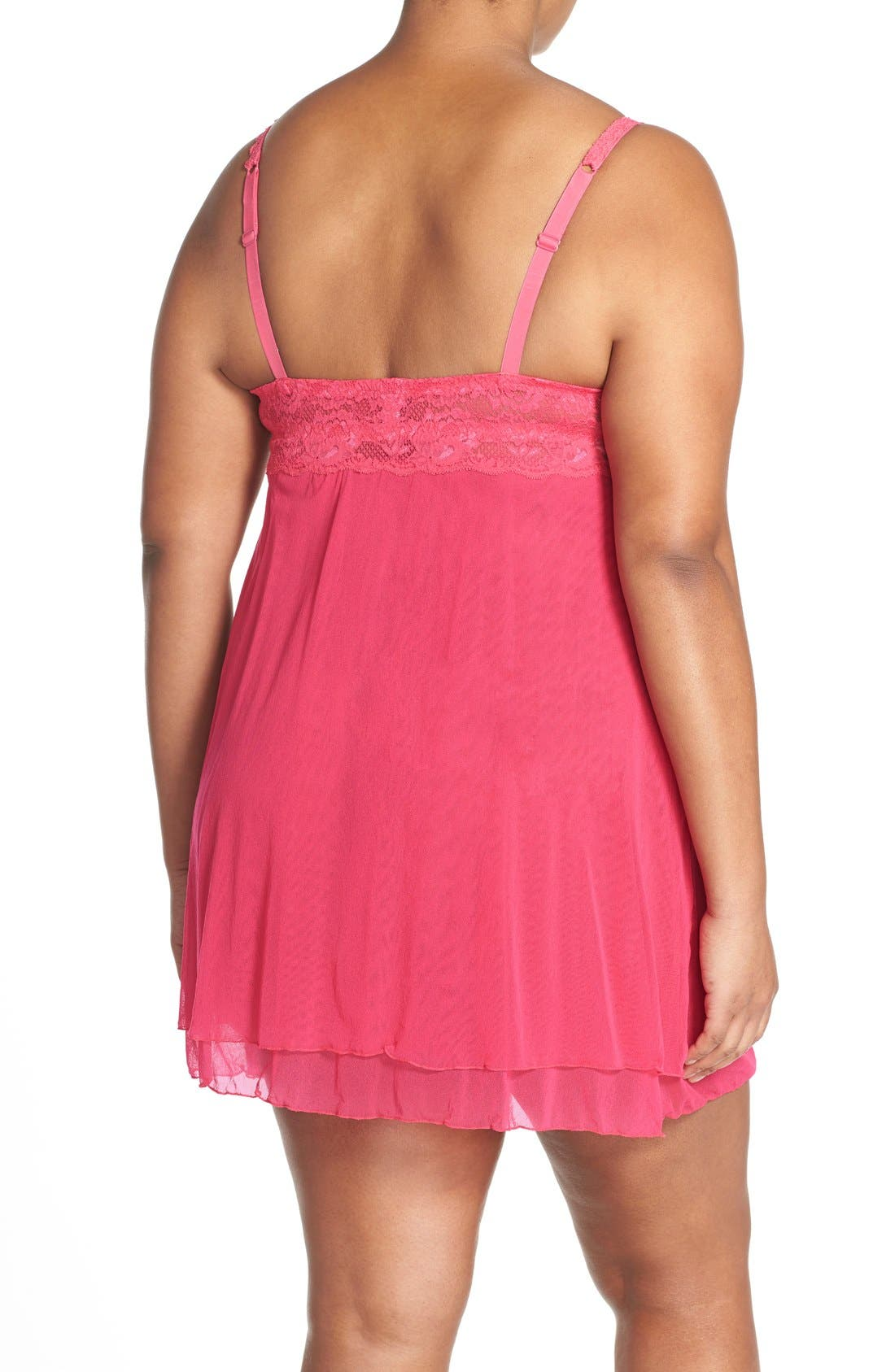 'Never Say Never' Babydoll Chemise,                             Alternate thumbnail 21, color,