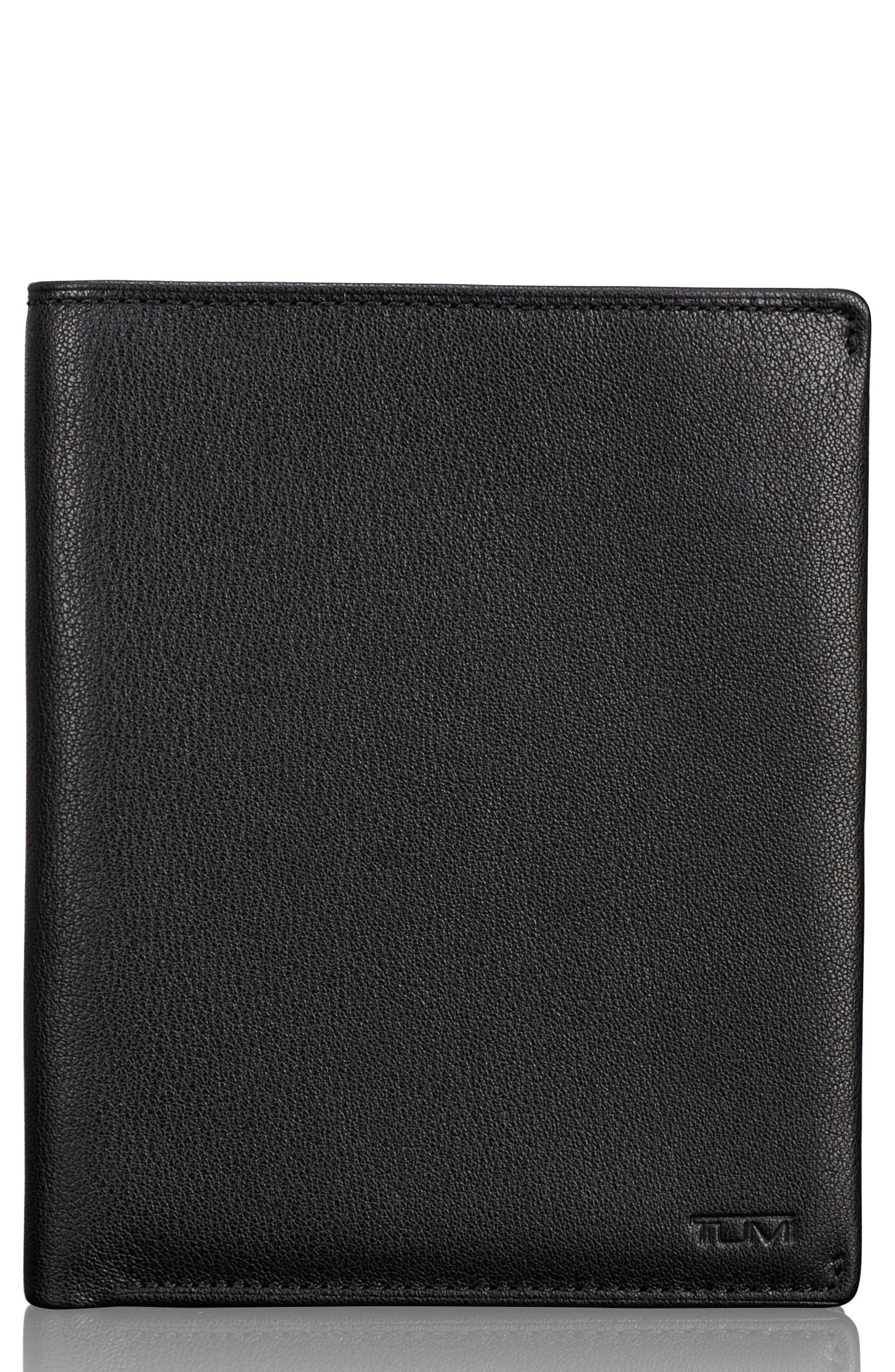 Leather Passport Case,                         Main,                         color, 011